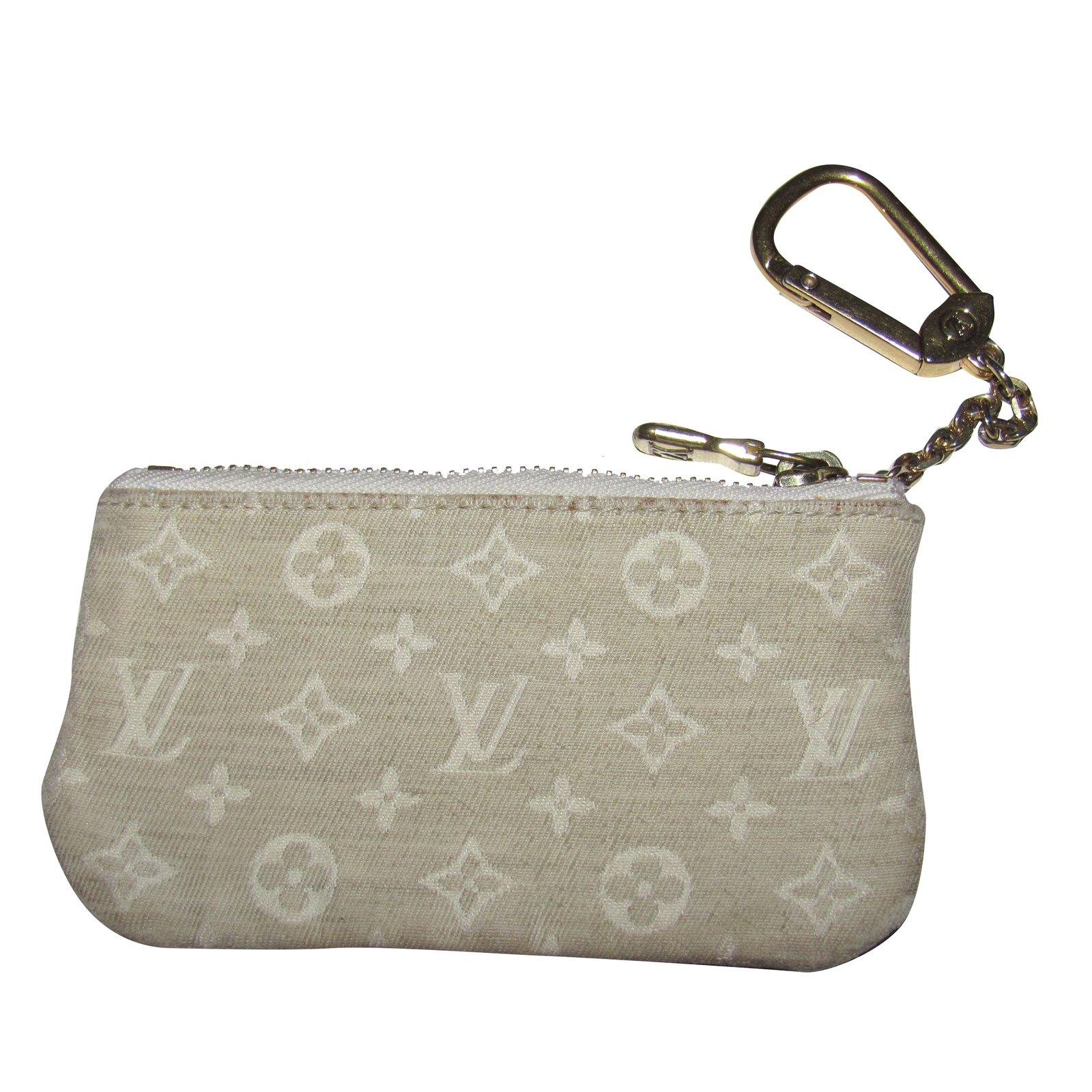 a94e196bb54 Petite maroquinerie Louis Vuitton petit porte monnaie et porte clef Toile  Gris ref.34662
