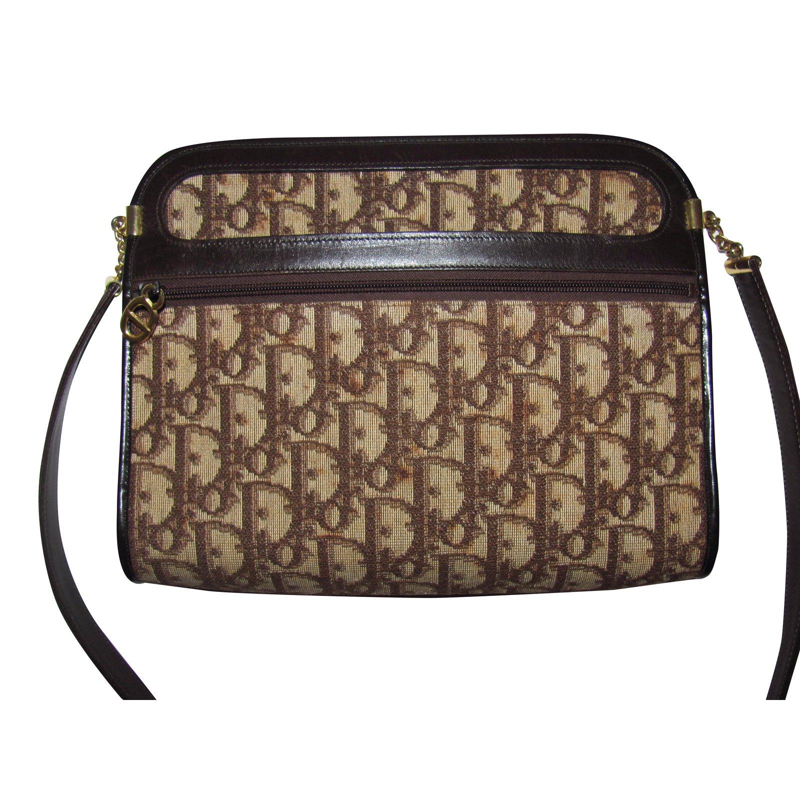 44e33126cc Sacs à main Dior vintage Toile Marron ref.34664 - Joli Closet