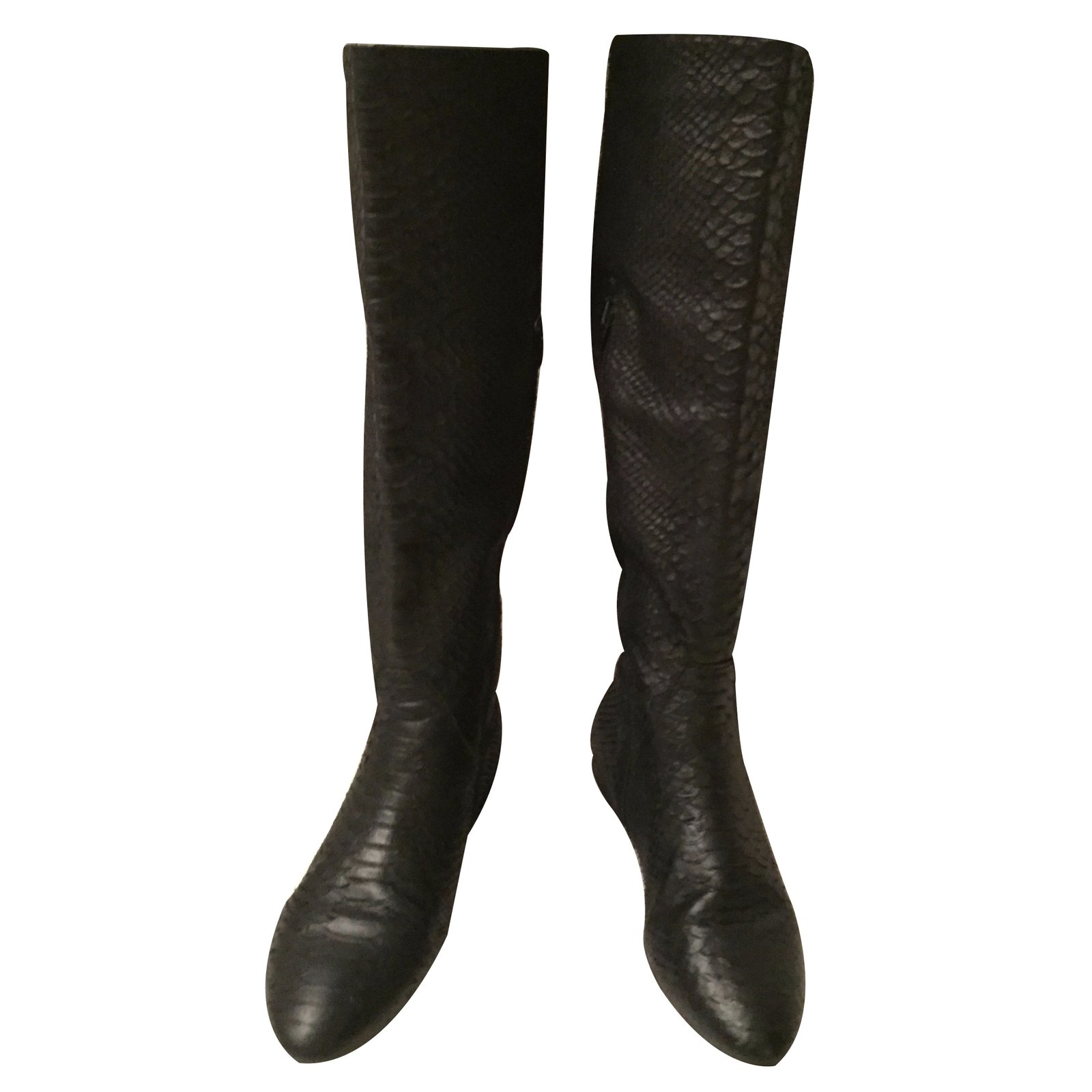 Zara Boots Boots Leather Black ref