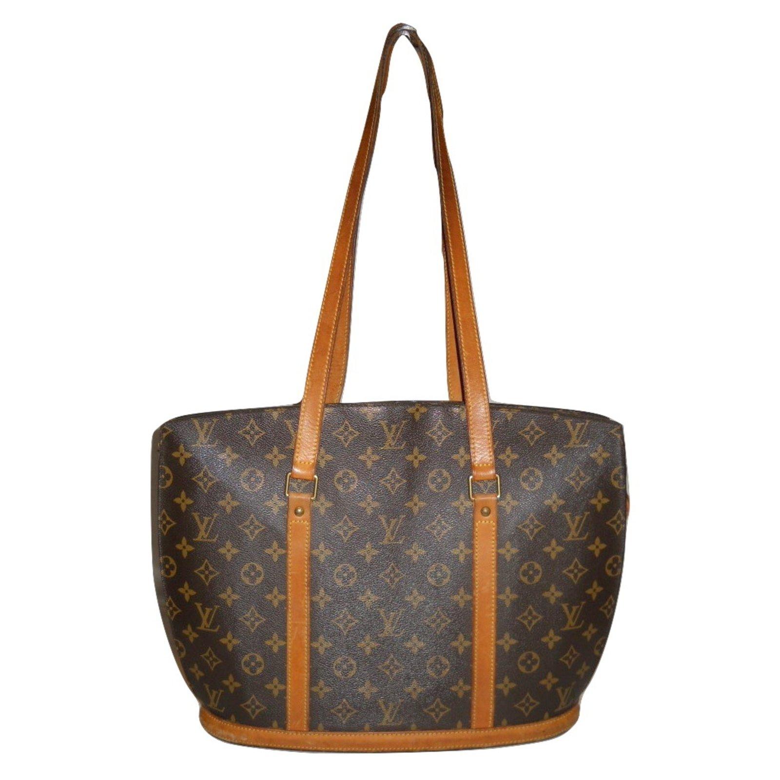Sacs à main Louis Vuitton vintage Babylone Monogram Cuir,Toile Marron  ref.34973 c2667d8f3ff