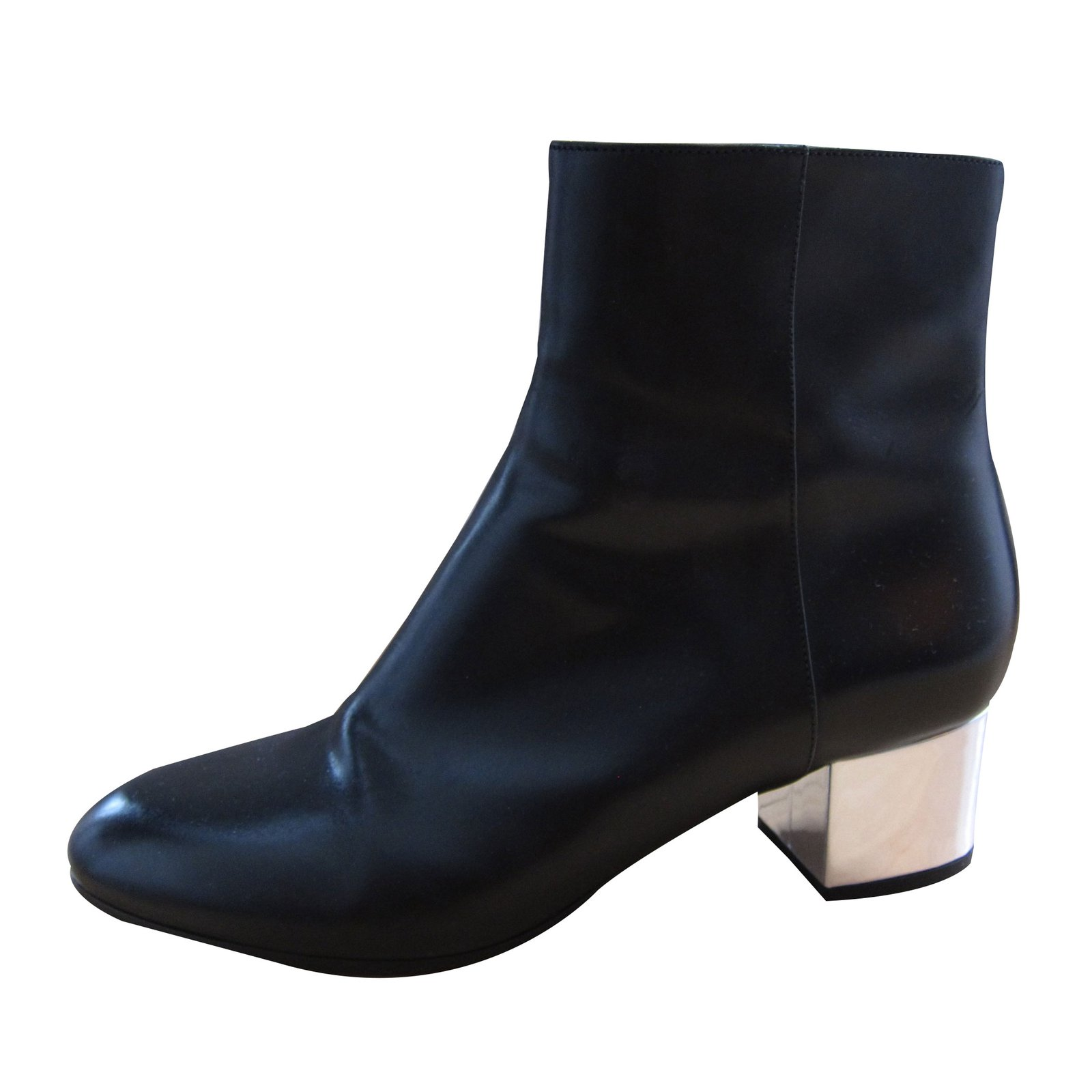 49b02cba1e Dries Van Noten Ankle Boots Ankle Boots Leather Black ref.35108 ...
