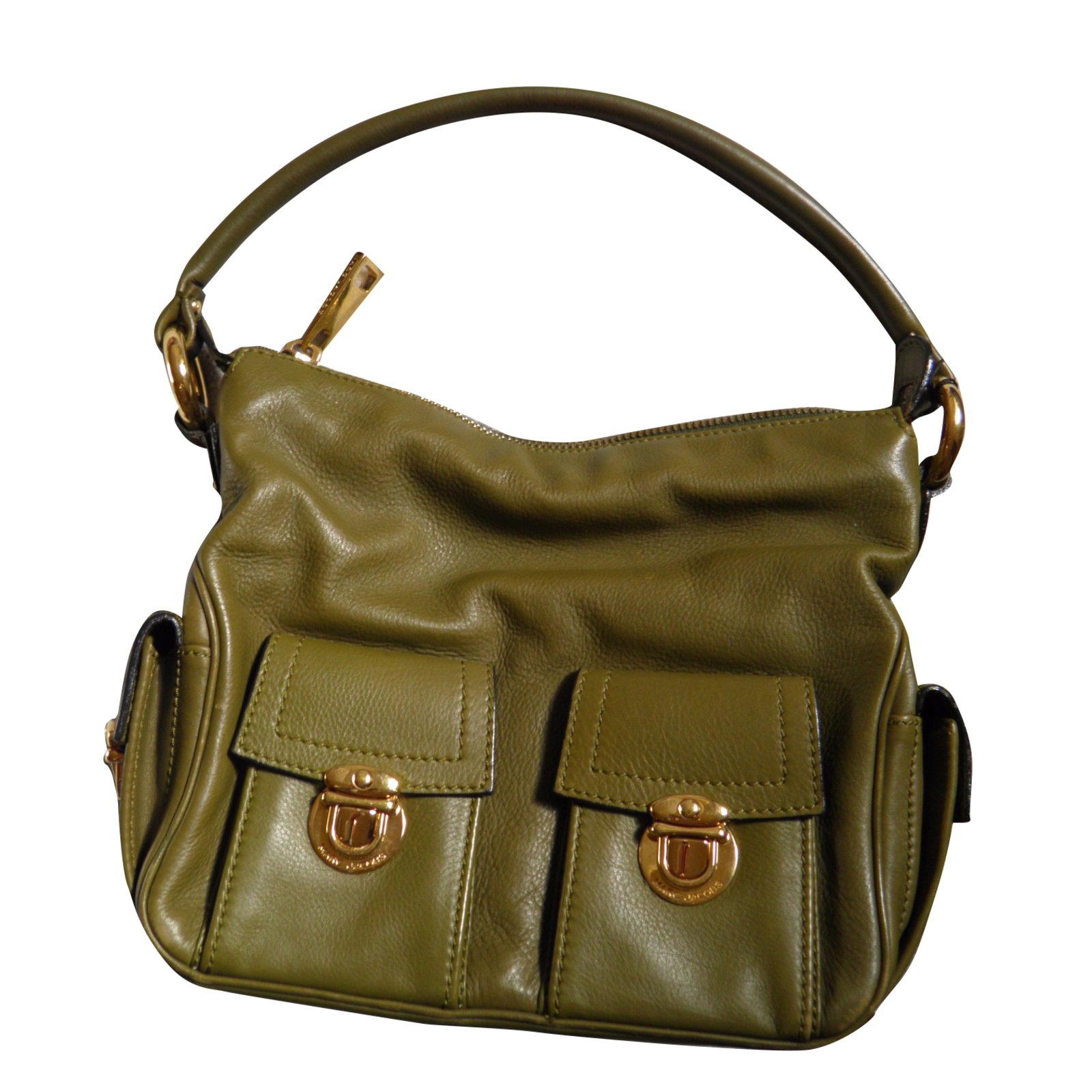 Marc Jacobs Tote Handbags Leather Olive