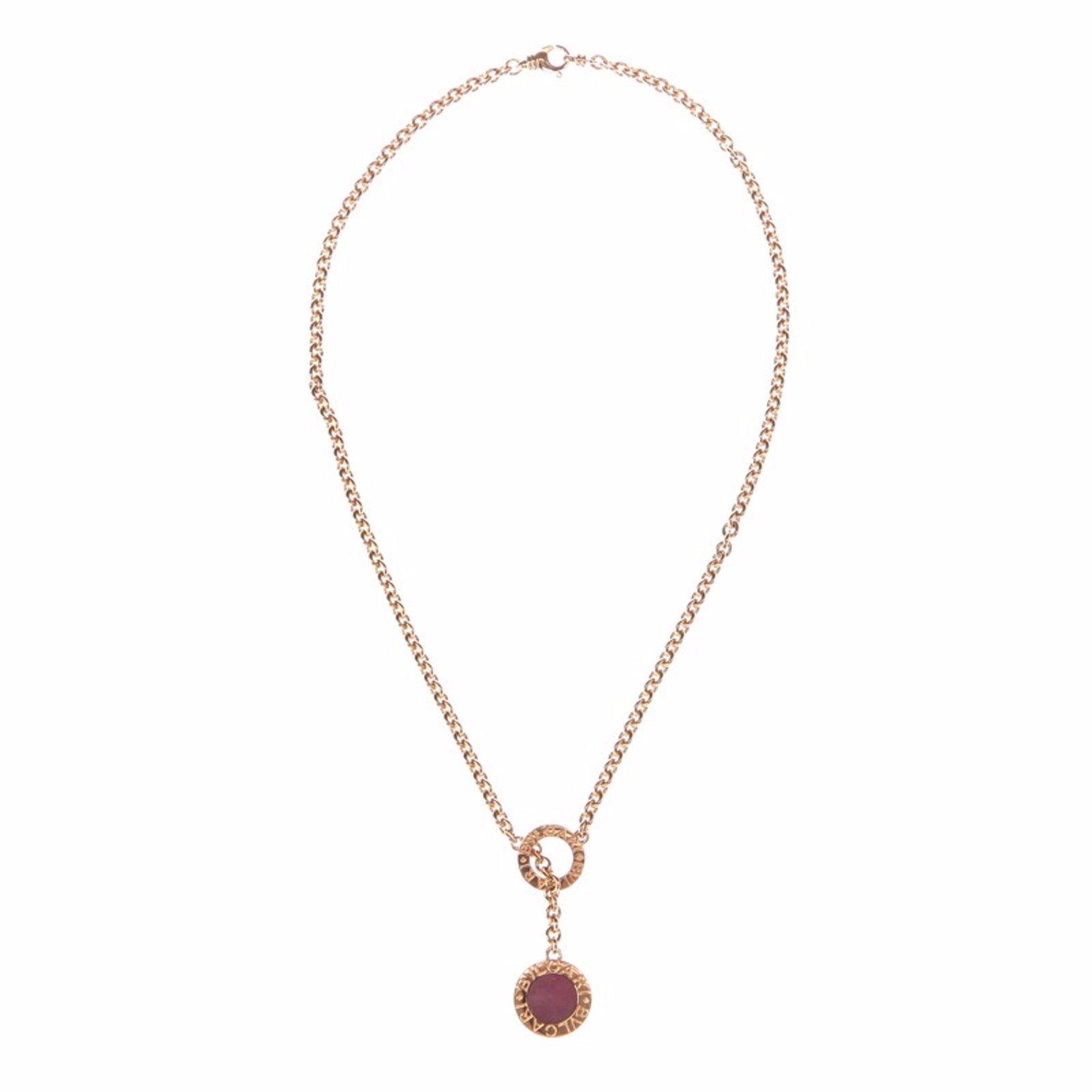 bulgari bvlgari 18k gold lapis coral necklace necklaces gold golden ref35349