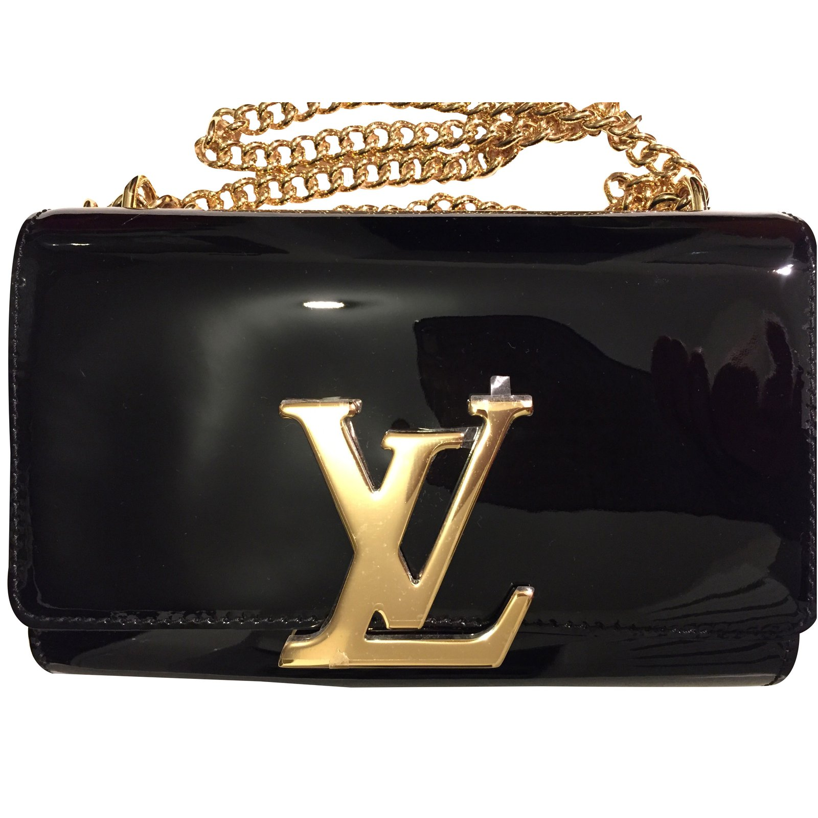 louis vuitton clutch bag. louis vuitton clutch bag bags patent leather black ref.35405