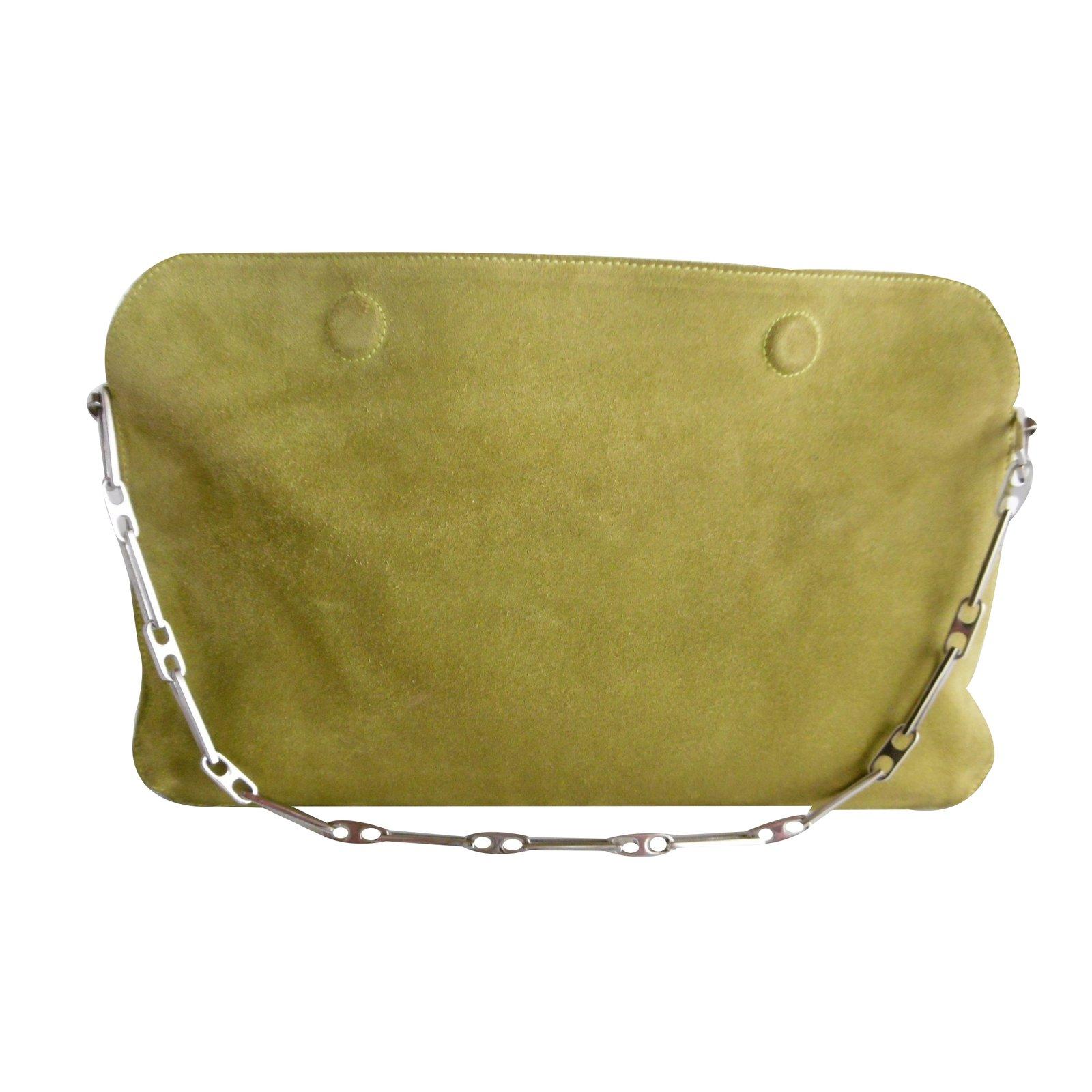 Nina Ricci Nina Ricci Rectangular Chain Suede Shoulder Bag ...
