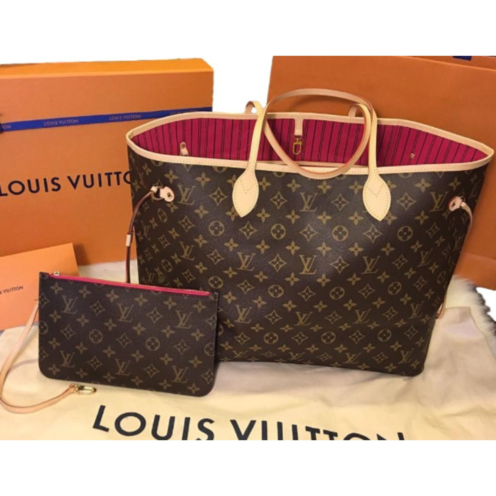 e78f53ae0d19 Louis Vuitton Handbag Handbags Cloth Brown ref.35830 - Joli Closet