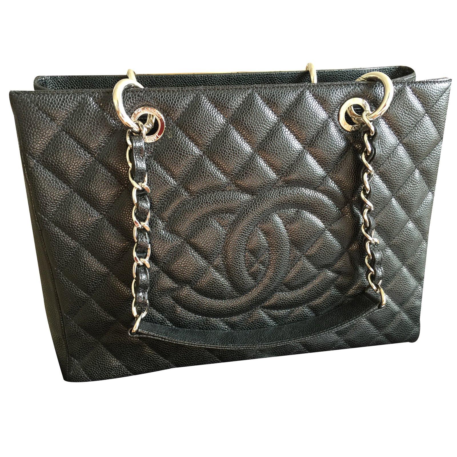 a593a5f977e4 Sacs à main Chanel GST (grand shopping tote) Cuir Noir ref.36023 ...