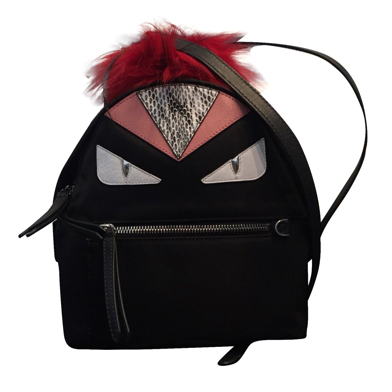 Fendi Monster Backpack Black
