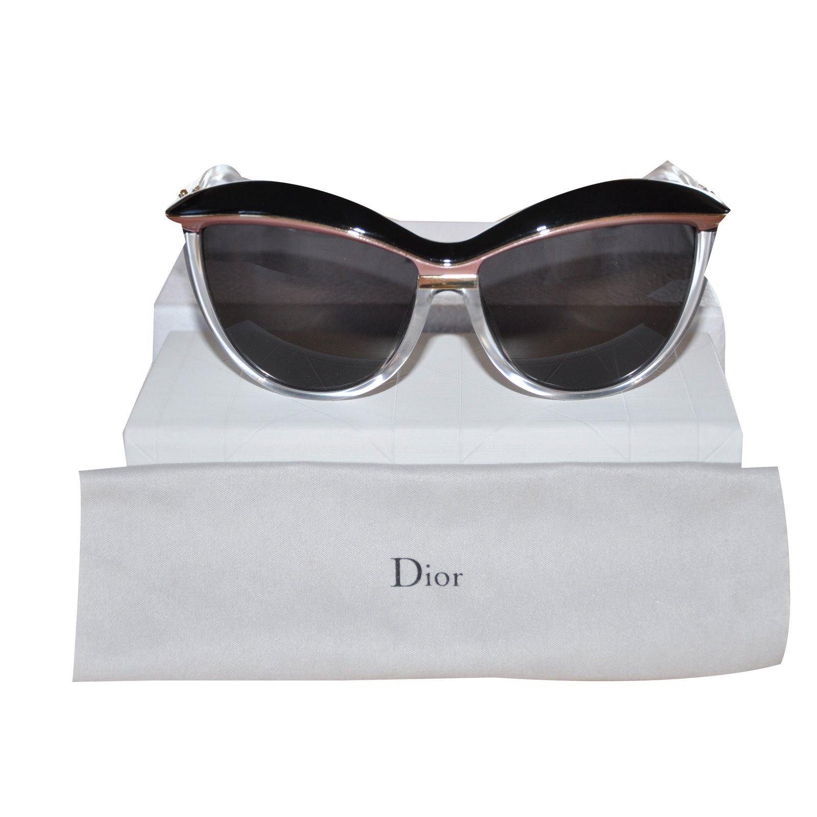 Lunettes Dior Lunettes de soleil Dior Demoiselle 2 acetate Noir,Rose  ref.36162 ba280474354