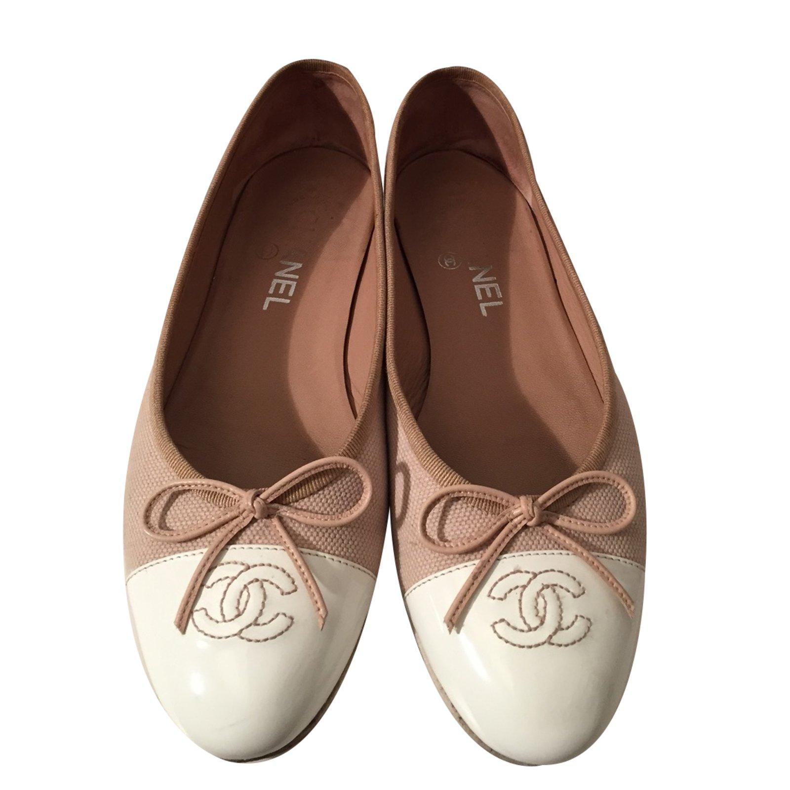 chanel ballerina beige
