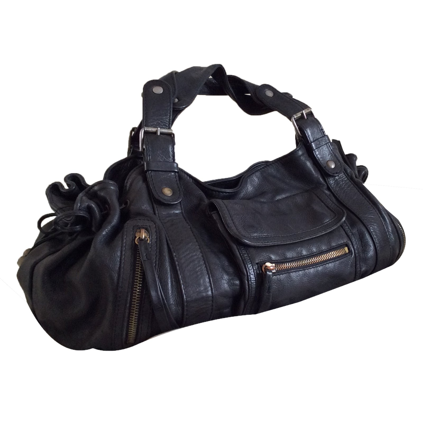 313d37241e Gerard Darel Handbags Handbags Leather Black ref.36428 - Joli Closet