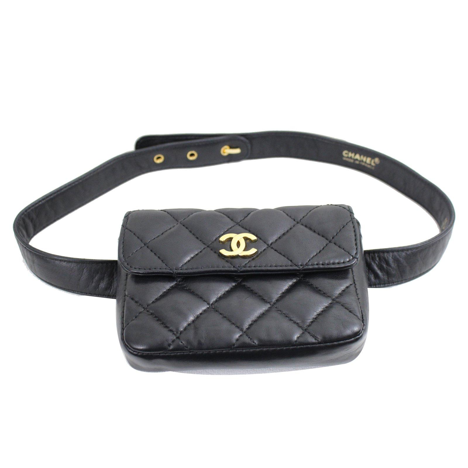chanel belt. chanel belt bag handbags patent leather black ref.36713