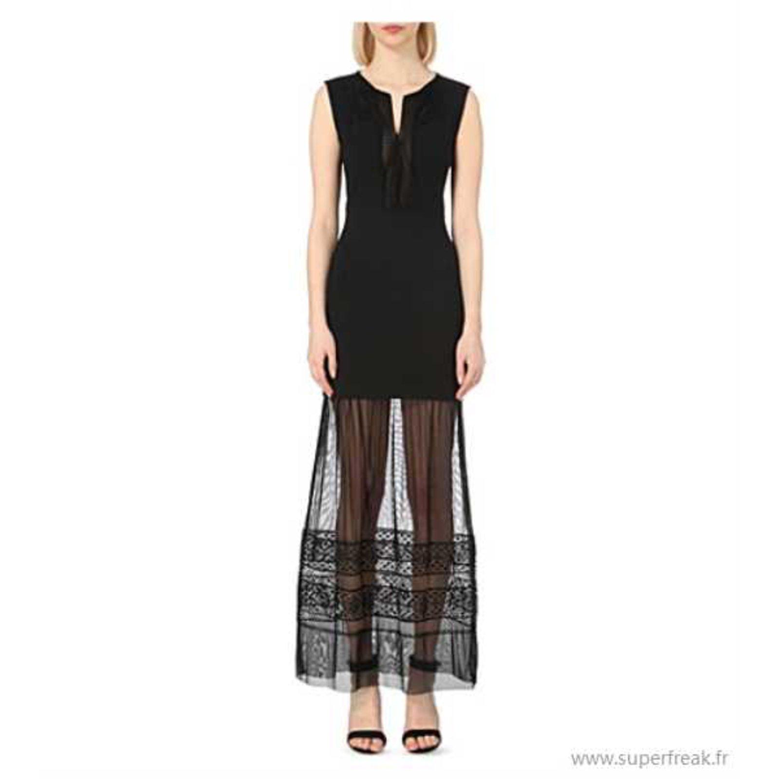 Robe longue noire maje