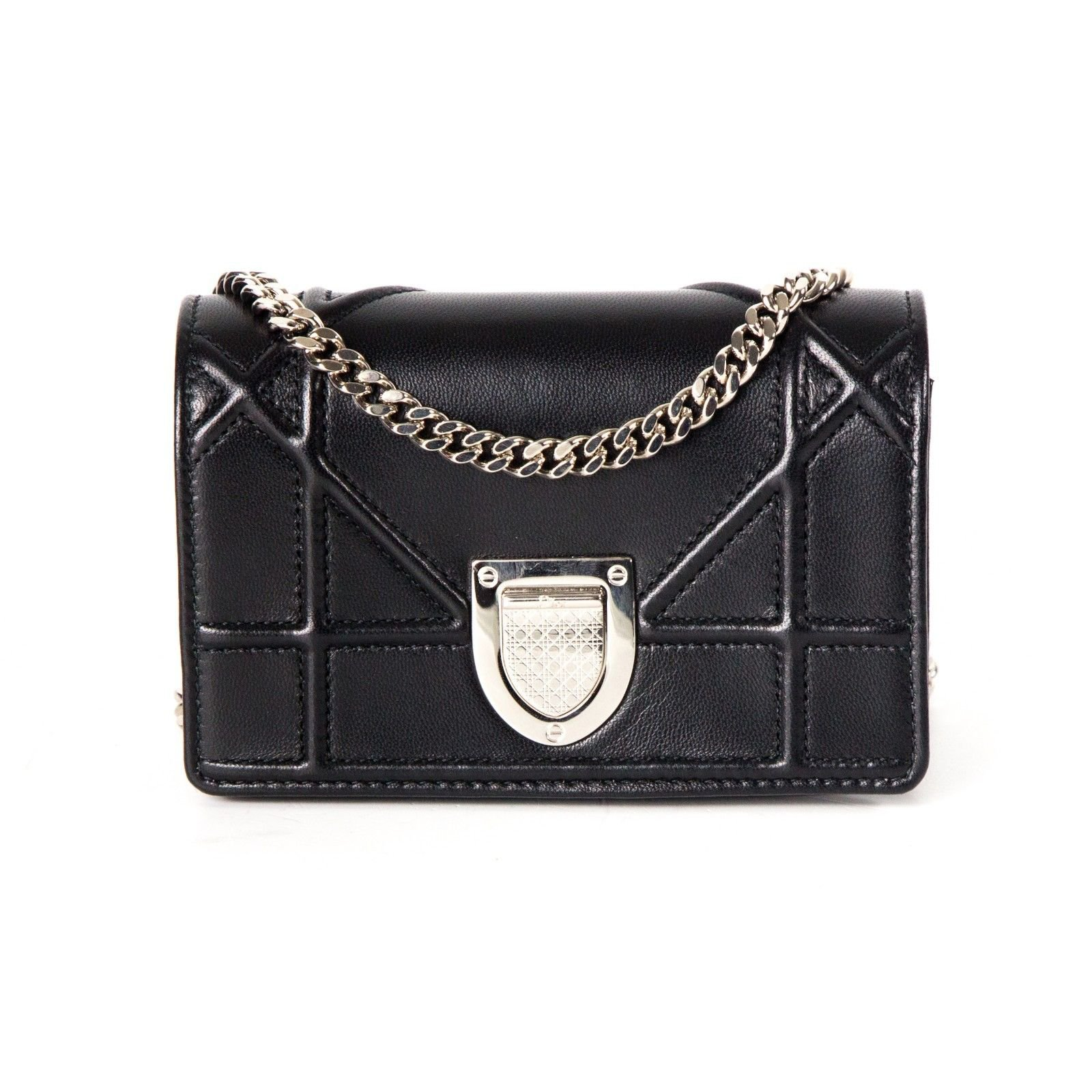 5492b4762c66 Christian Dior Diorama Mini Crossbody Bag Handbags Leather Black ref.37153