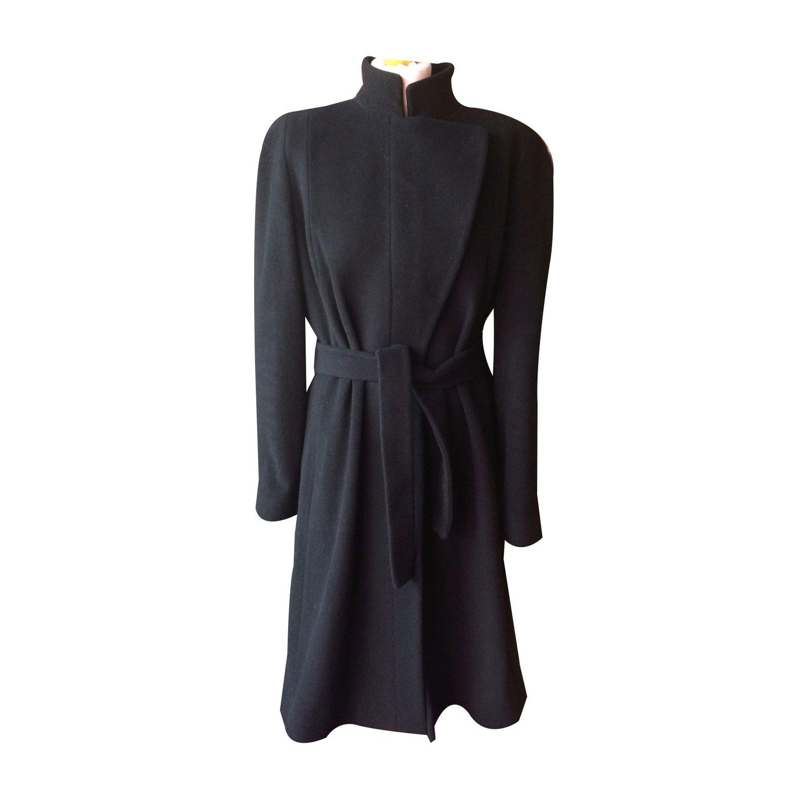 manteaux zapa manteau laine noir joli closet. Black Bedroom Furniture Sets. Home Design Ideas