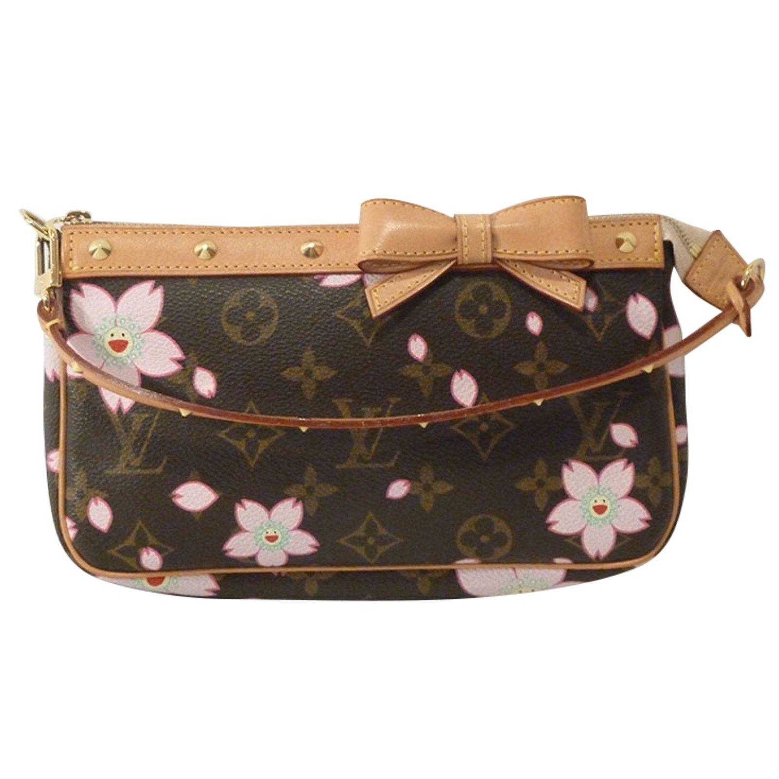 Louis vuitton takashi murakami cherry blossom monogram stud pochette  shoulder bag handbags other brown ref jpg cbc7722f09da8
