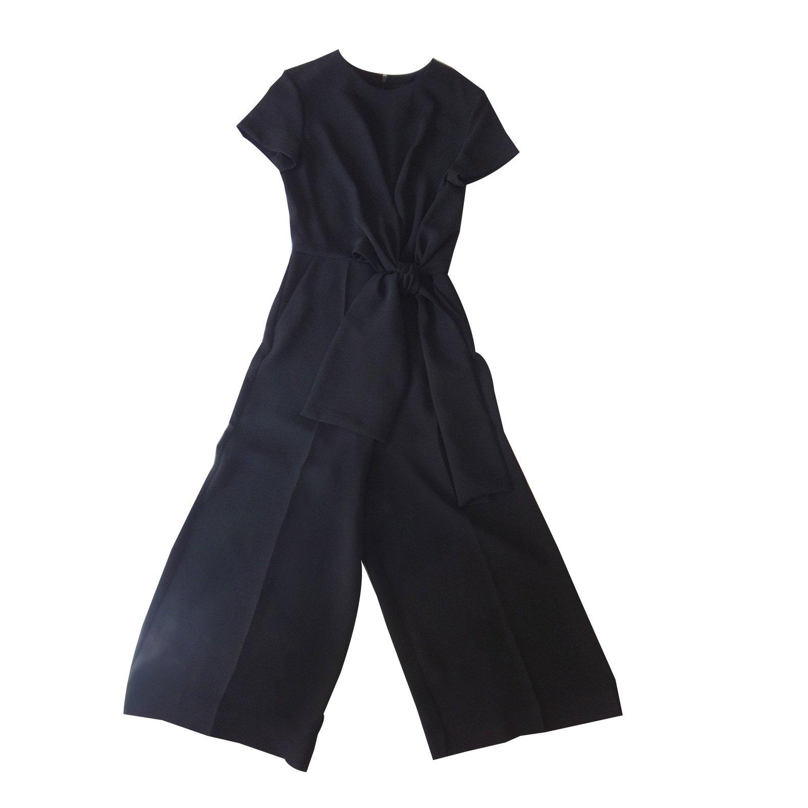 Combinaisons cos combinaison chic polyester noir joli closet - Combinaison noire chic ...