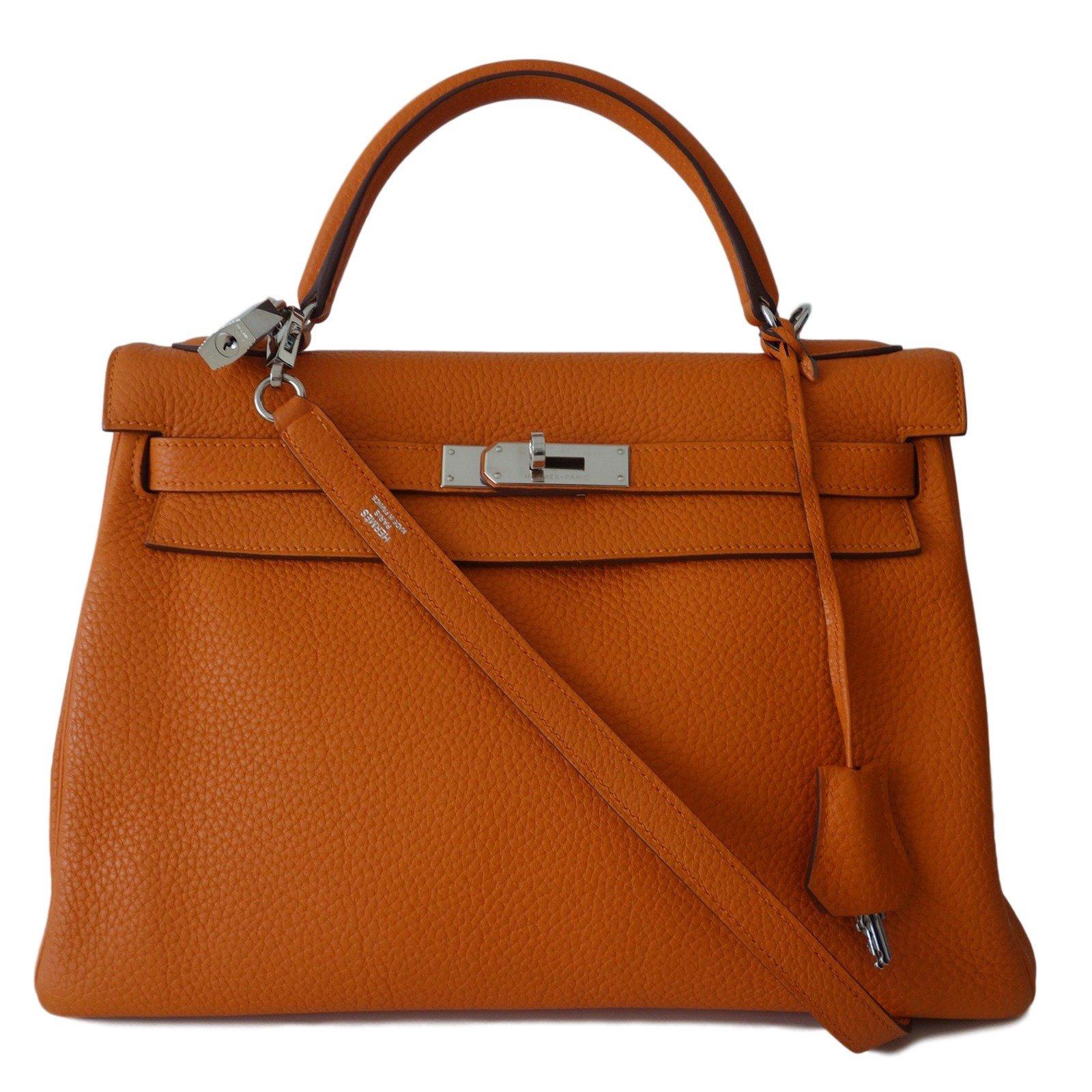 sacs main herm s sac hermes kelly 32 orange cuir orange. Black Bedroom Furniture Sets. Home Design Ideas