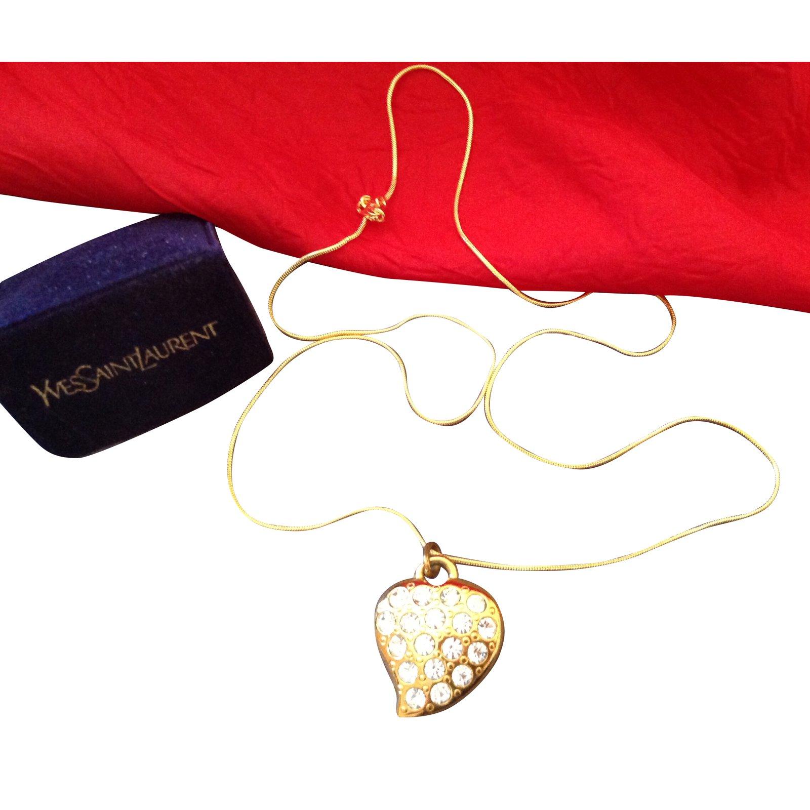 f6f2297d4d0 Yves Saint Laurent Pendant necklace Pendant necklaces Other Golden ref.37915