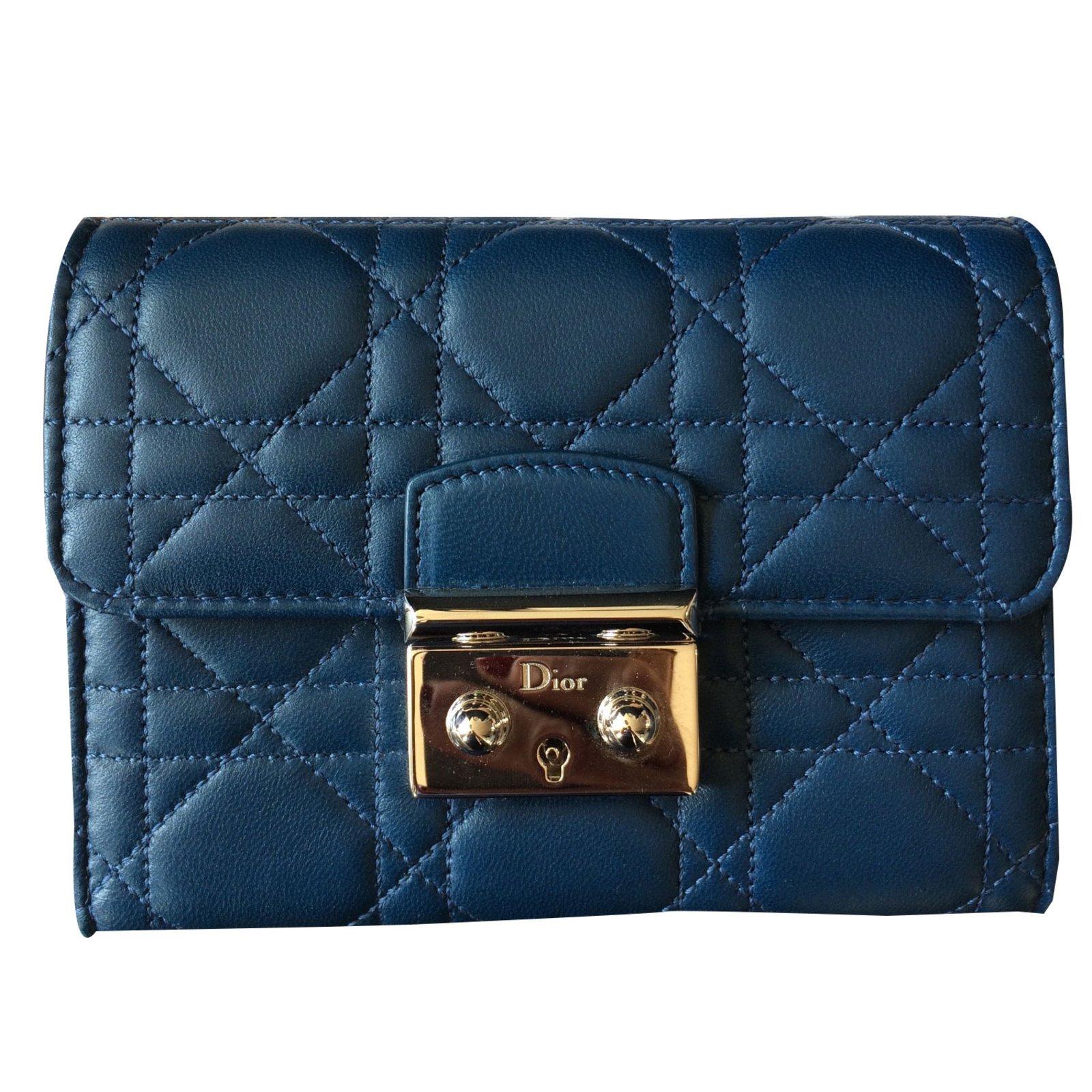 4a818205ddbd Dior Wallet Online. Christian Dior Wallet Wallets Leather Blue ref.38048 - Joli  Closet