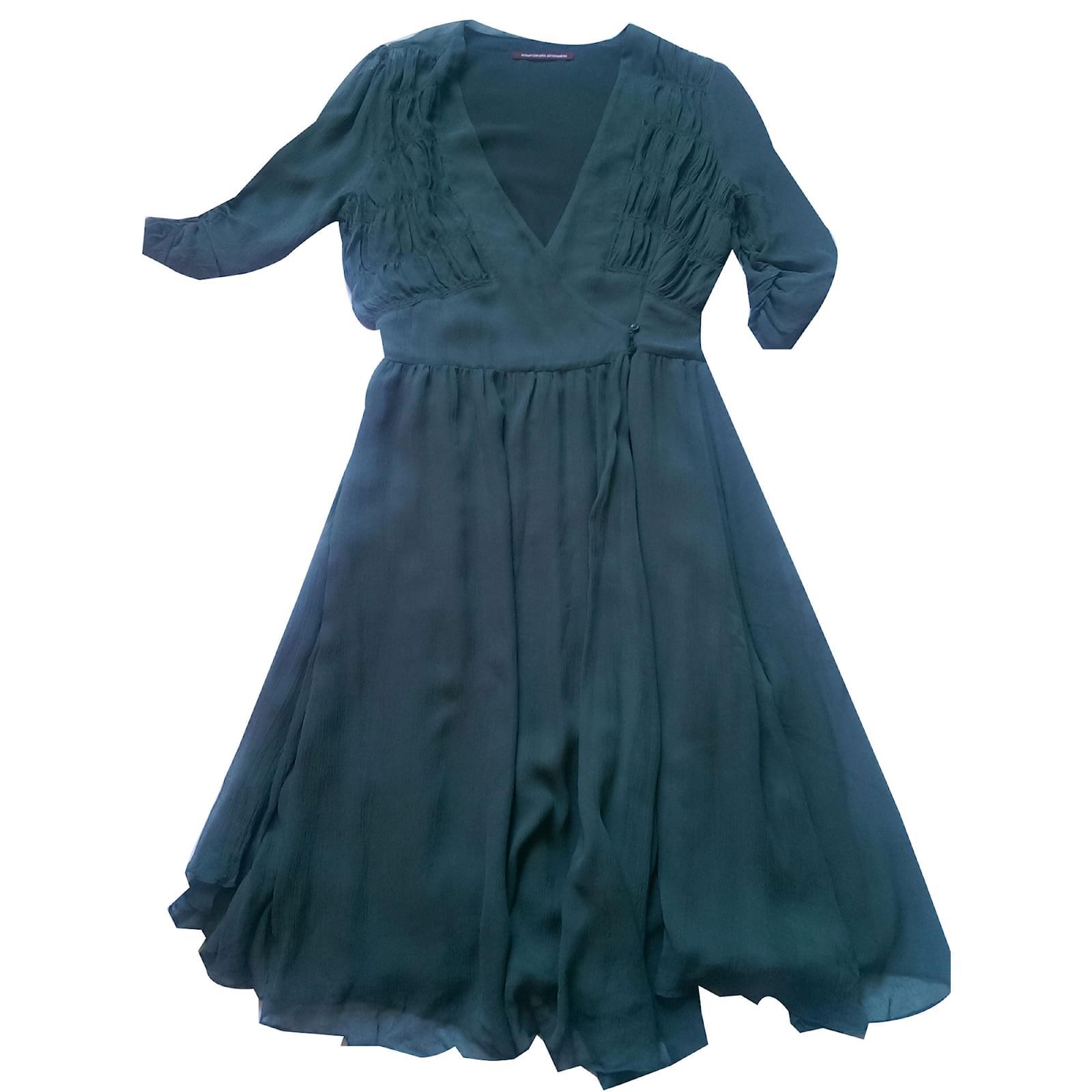 Robes comptoir des cotonniers imalia soie vert joli closet - Robe verte comptoir des cotonniers ...