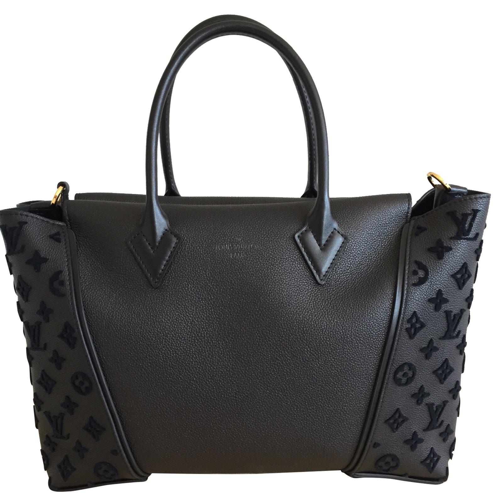 Sacs à main Louis Vuitton TOTE W Cuir Noir ref.38407 - Joli Closet 9bb073c84de