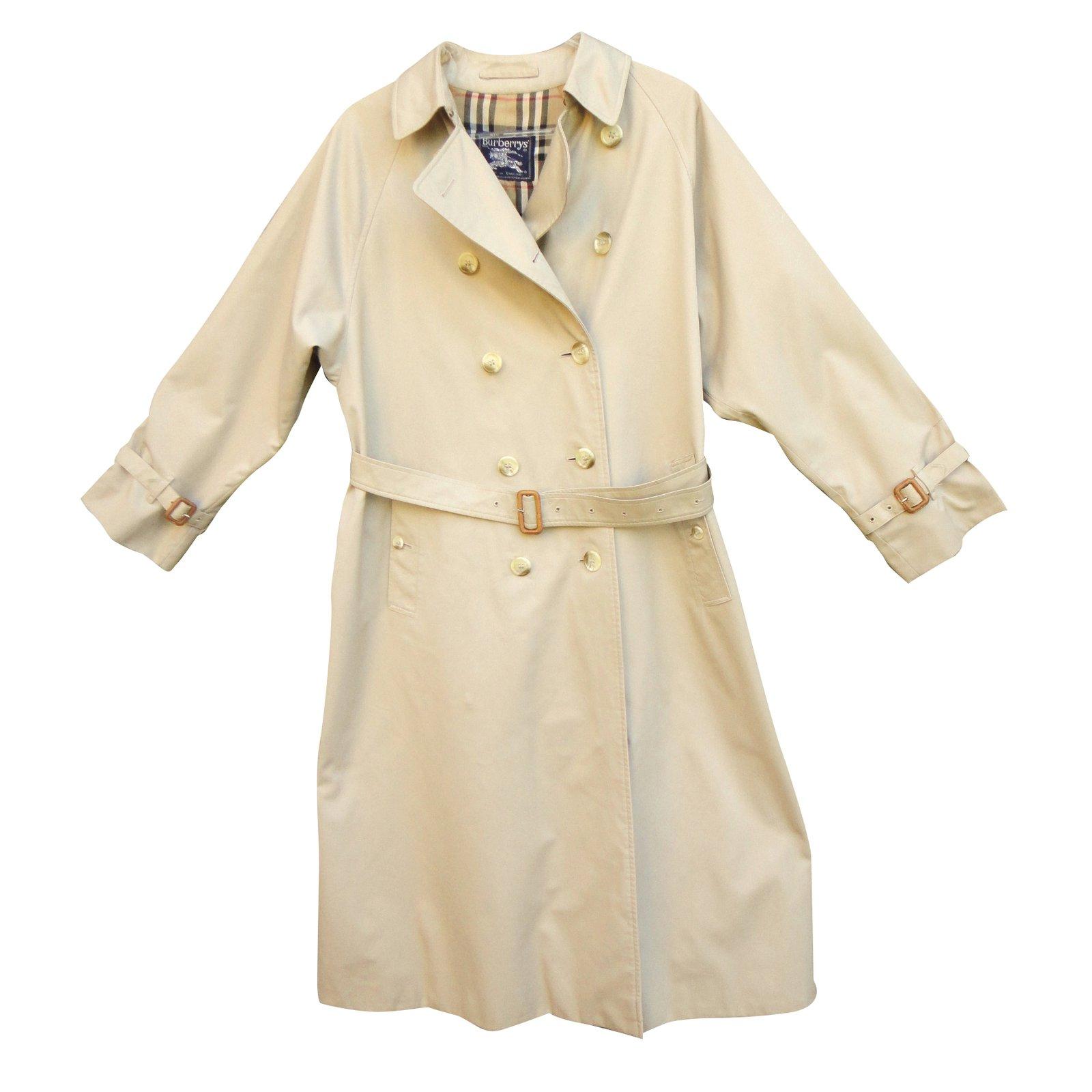 manteaux burberry manteau coton polyester beige joli closet. Black Bedroom Furniture Sets. Home Design Ideas