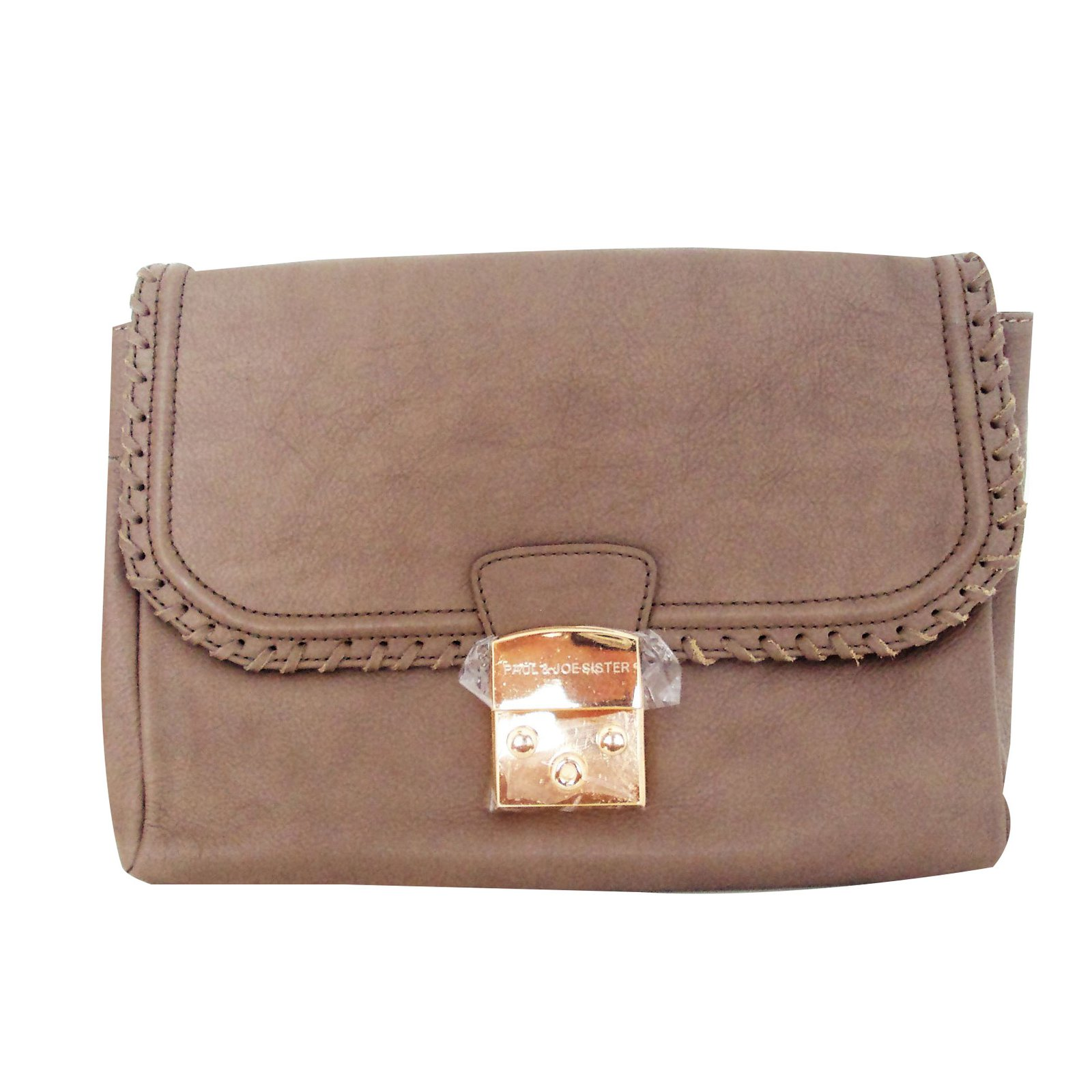 Paul Joe Sister Pouch Clutch Bags Leather Brown Ref 38501