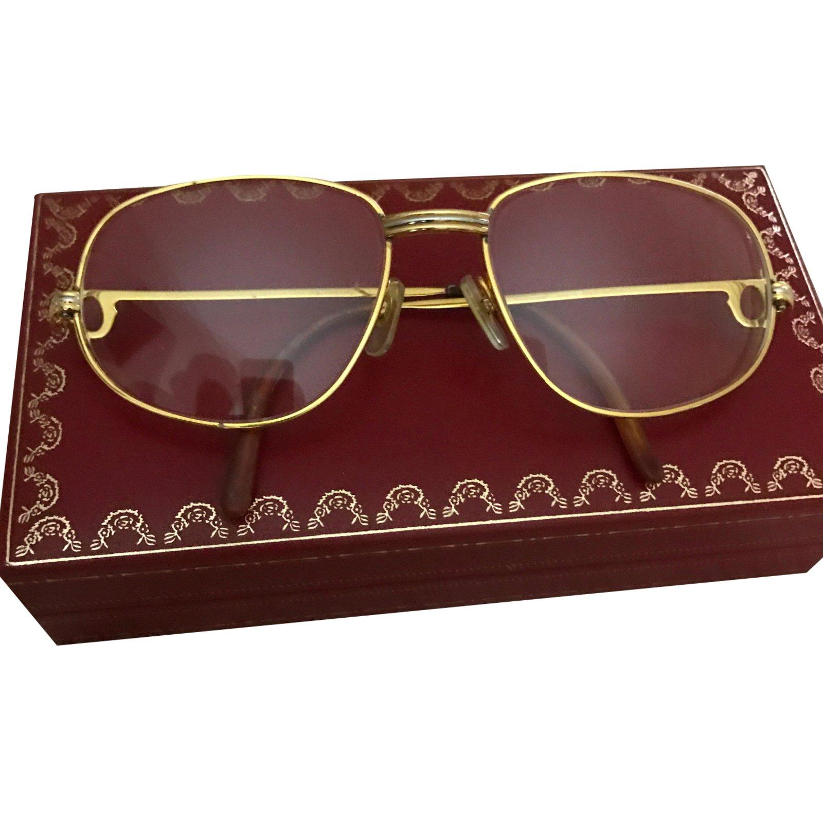 e9bad1c8503 Lunettes Cartier Romance Plaqué or Doré ref.38508 - Joli Closet