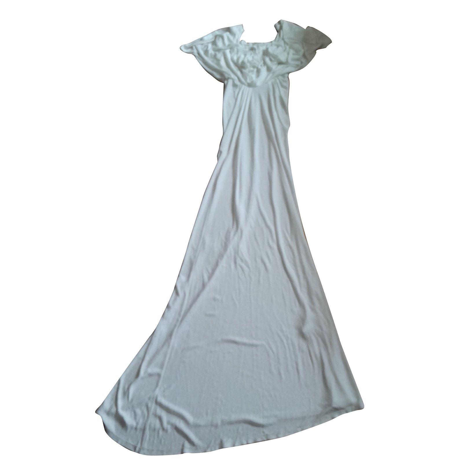 John Galliano Princess Dress - Galliano Dresses Viscose White ref ...