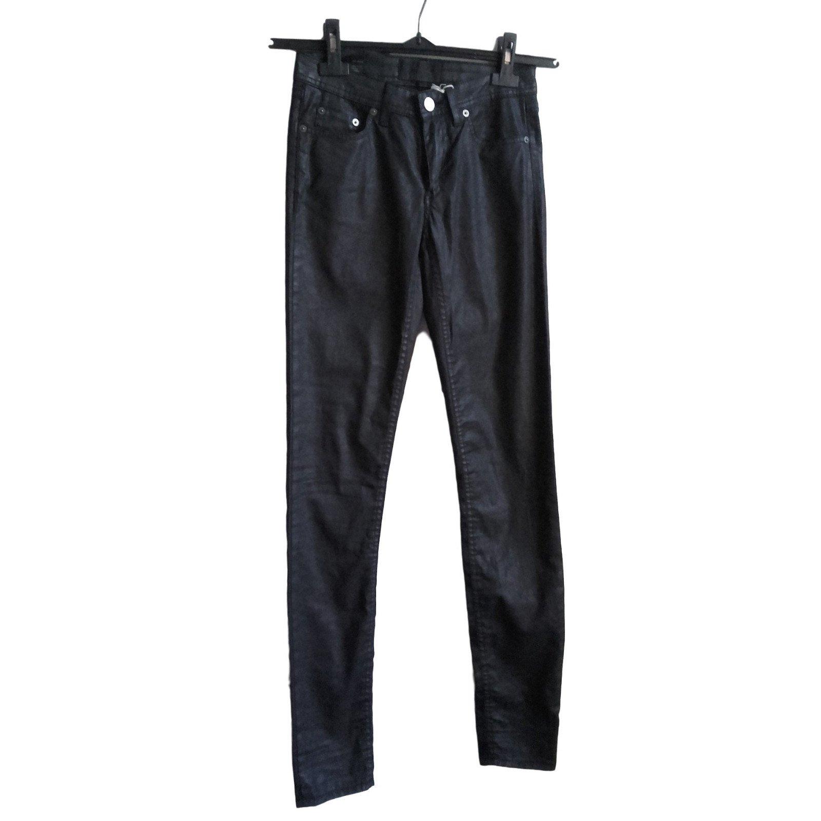 Acne Jean Acné Studio, never worn Pants, leggings Cotton Dark grey ref.38515 556eac9c156