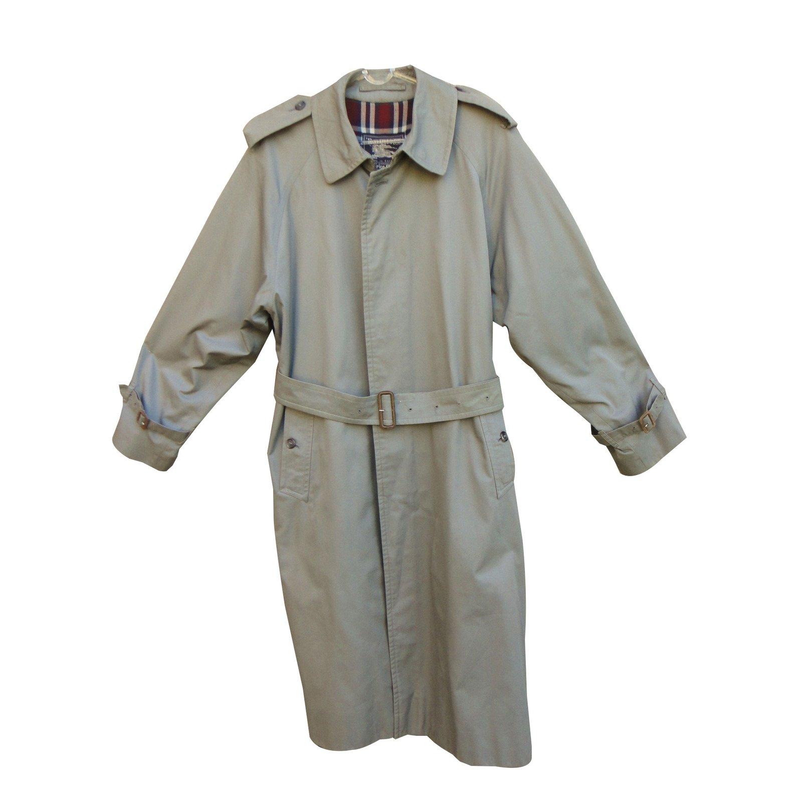 a899154ecd61d Manteaux 38582 Ref Coton Manteau polyester Homme Gris Burberry wpvT8
