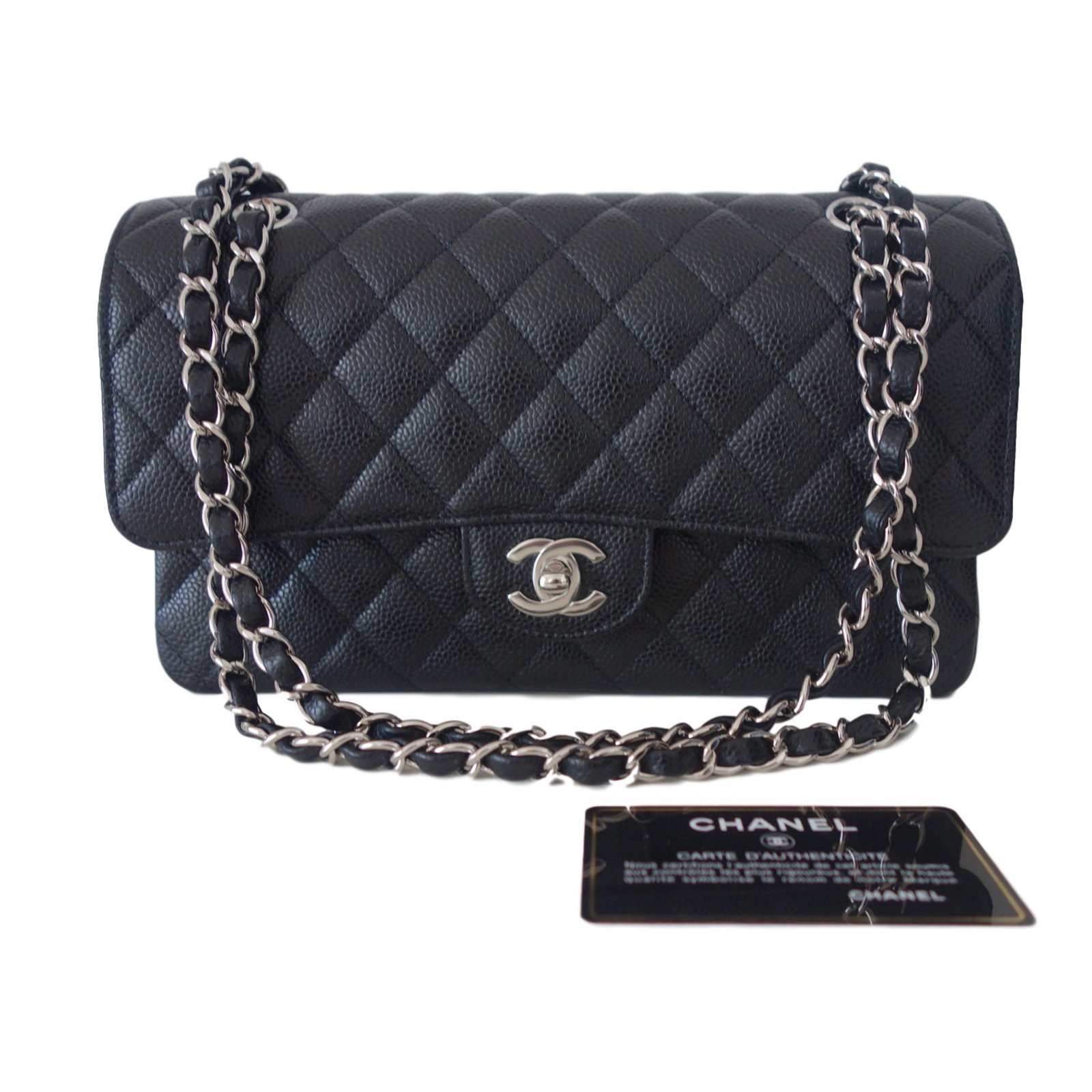 Chanel Classic Handbags Leather Black Ref 38607