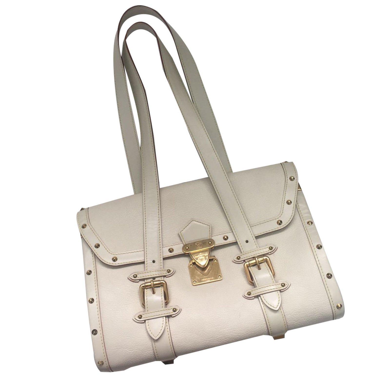 Sac A Main Blanc Louis Vuitton : Sacs ? main louis vuitton sac cuir blanc ref