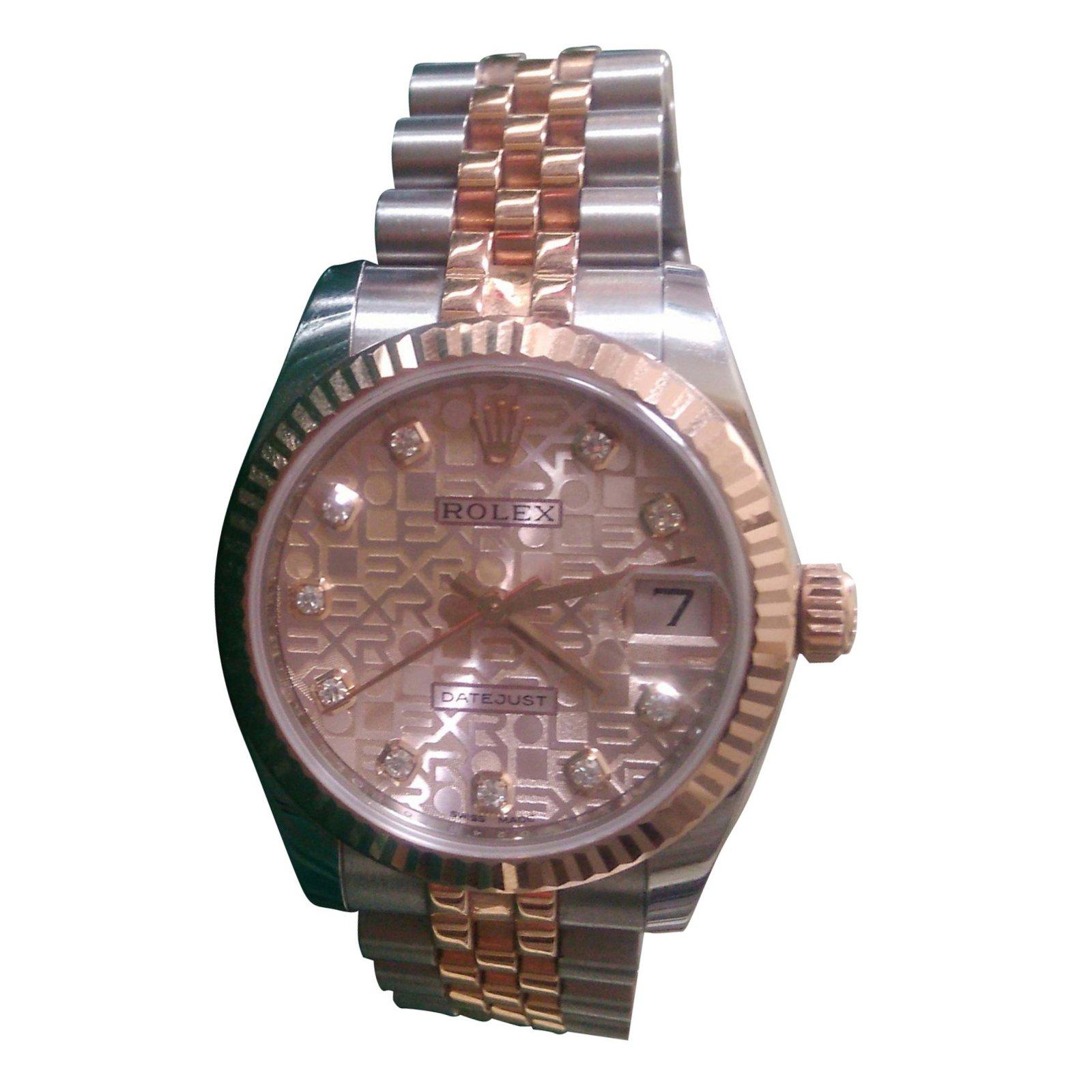 1c6afda3b9d Montres Rolex LADY DATEJUST 31 EVEROSE JUBILE Or rose Rose ref.38794 ...