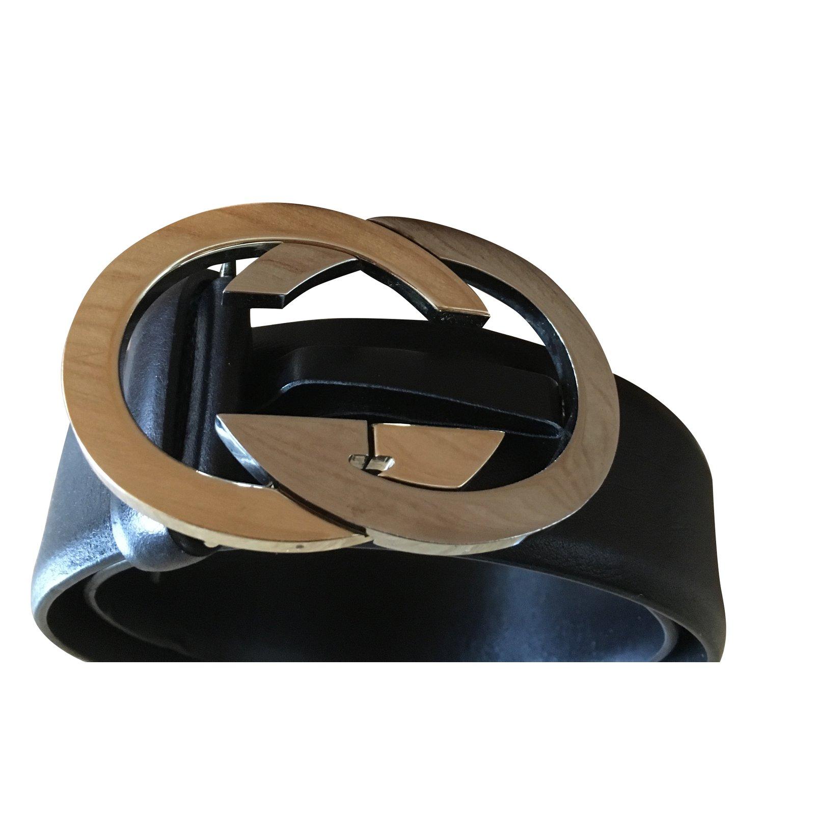 49104b50500 Ceintures Gucci Ceinture Cuir Noir ref.38865 - Joli Closet