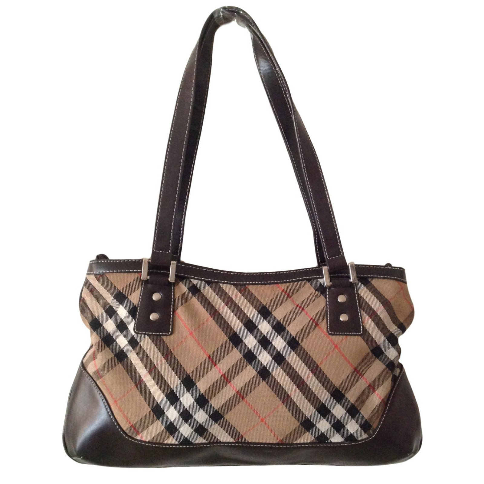cd5581506bc33 Sacs à main Burberry Burberrys of london Blue Label Toile Beige ref.39007