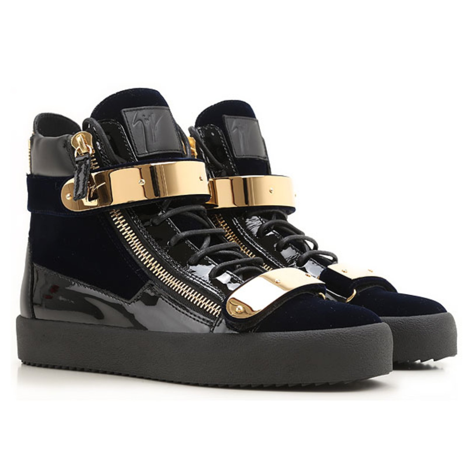 d47fd2605792 Giuseppe Zanotti Sneakers Sneakers Velvet Navy blue ref.39184 - Joli ...