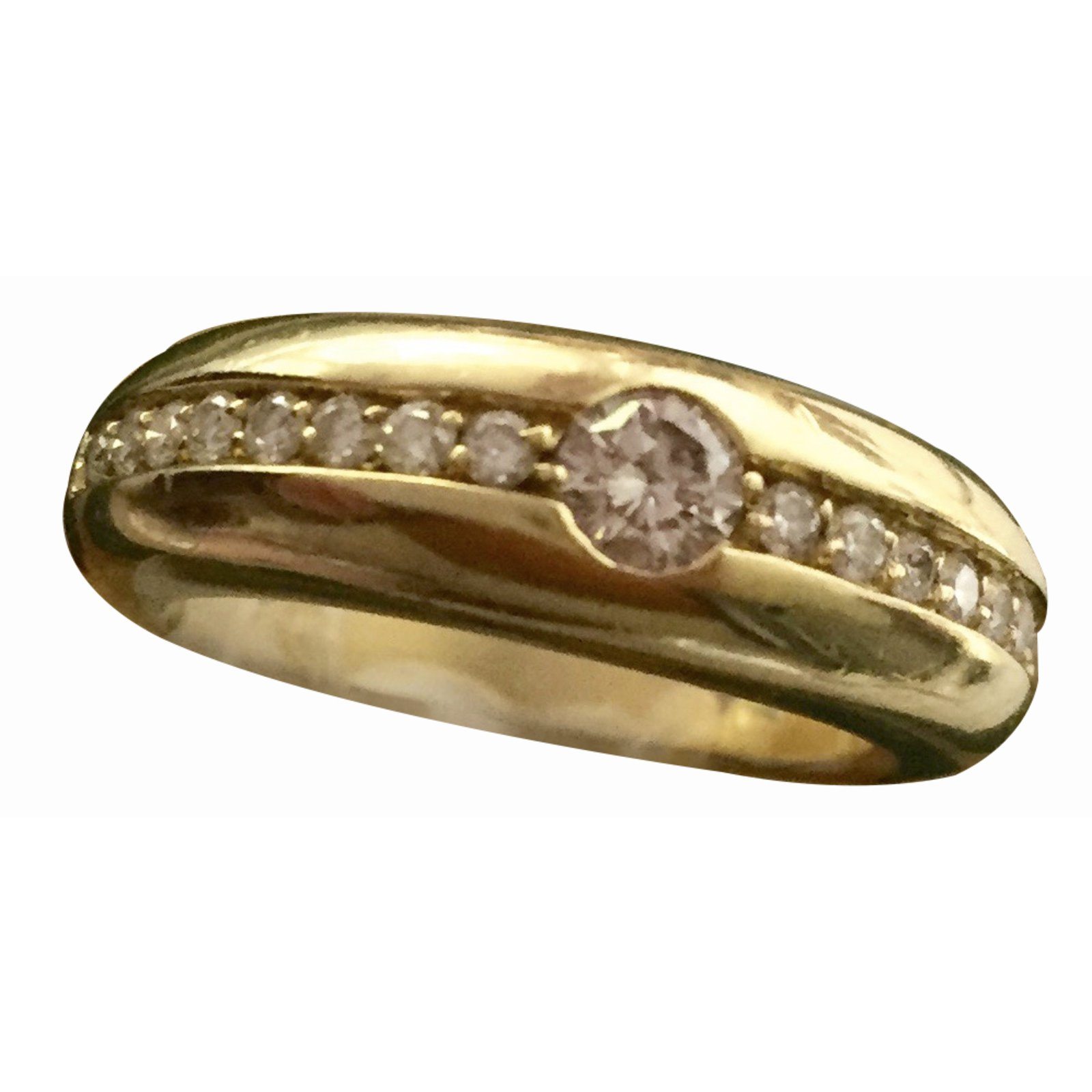 Autre Marque H Stern Ring Rings Yellow Gold Golden Ref 39350 Joli