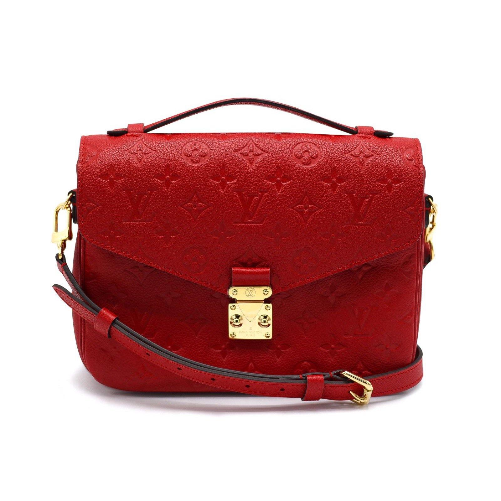 1e554862a477 Sacs porté croisé Rouge – Louis Vuitton M54679 Lockme Bucket Femme Rubis  Sacs à main Louis Vuitton METIS Cuir Rouge ref.39375