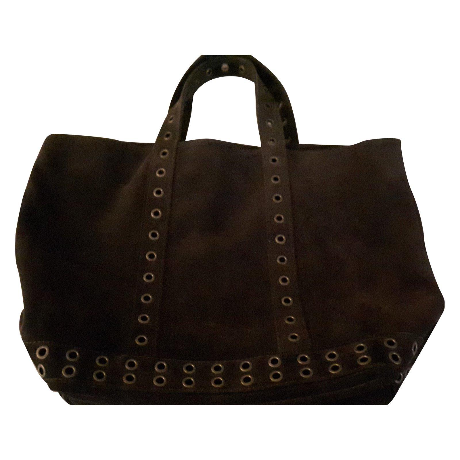 sacs main vanessa bruno cabas cuir marron fonc ref. Black Bedroom Furniture Sets. Home Design Ideas
