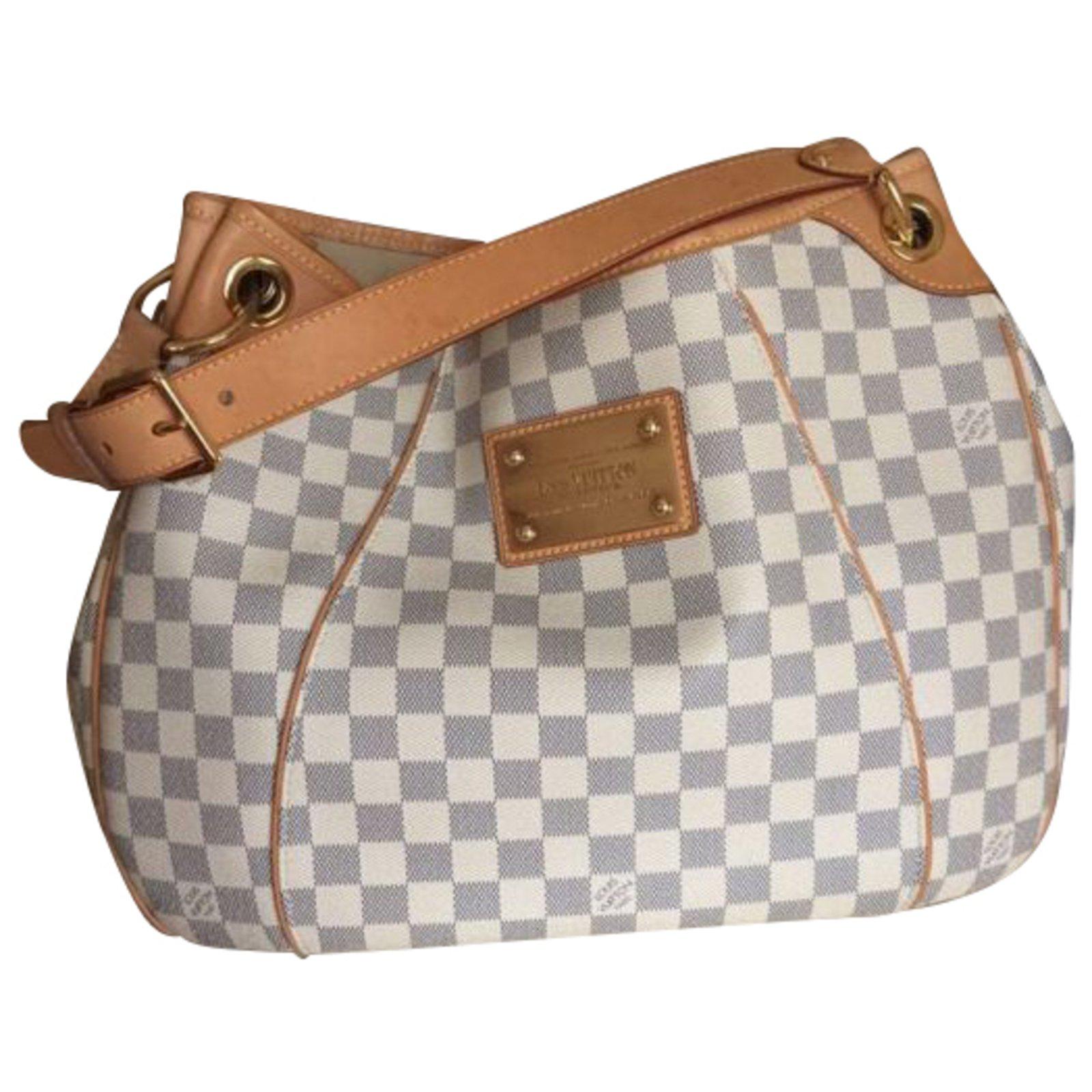 af617ebdea4e Louis Vuitton Galliera damier azur GM Handbags Leather White ref.39402