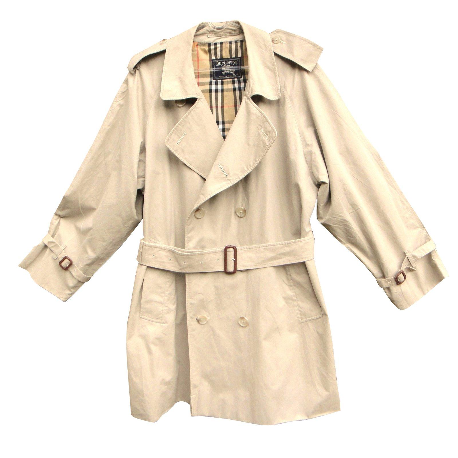 Manteaux homme Burberry Trench coat Coton Beige ref.39505 - Joli Closet 7dea31ad5f9
