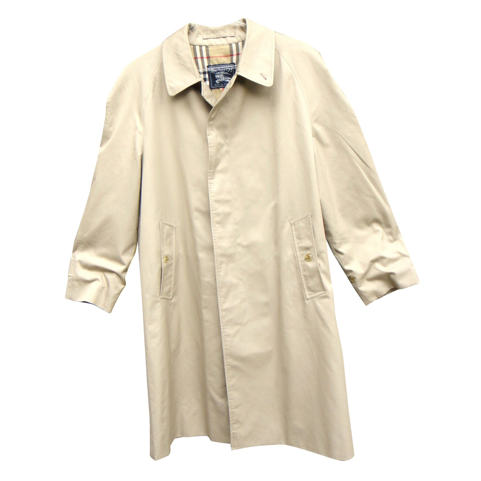 fbf9f943db915f Trench Trench Manteaux polyester Homme Coton Coton Coat 39507 Beige Ref  Burberry wqpRp6U