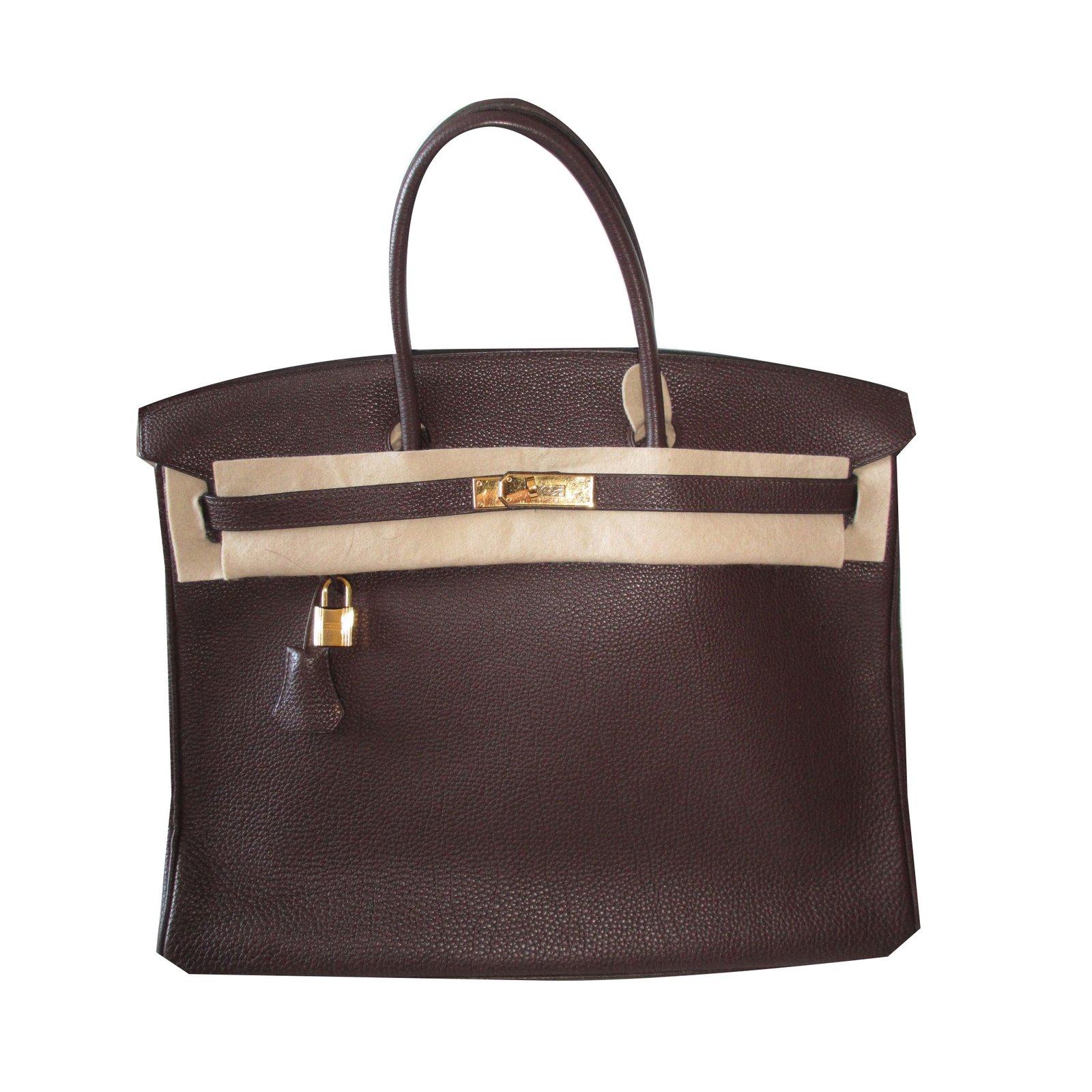 Sacs à main Hermès Birkin 40 Veau Togo Cuir Marron foncé ref.39542 ... 7f26e08554f