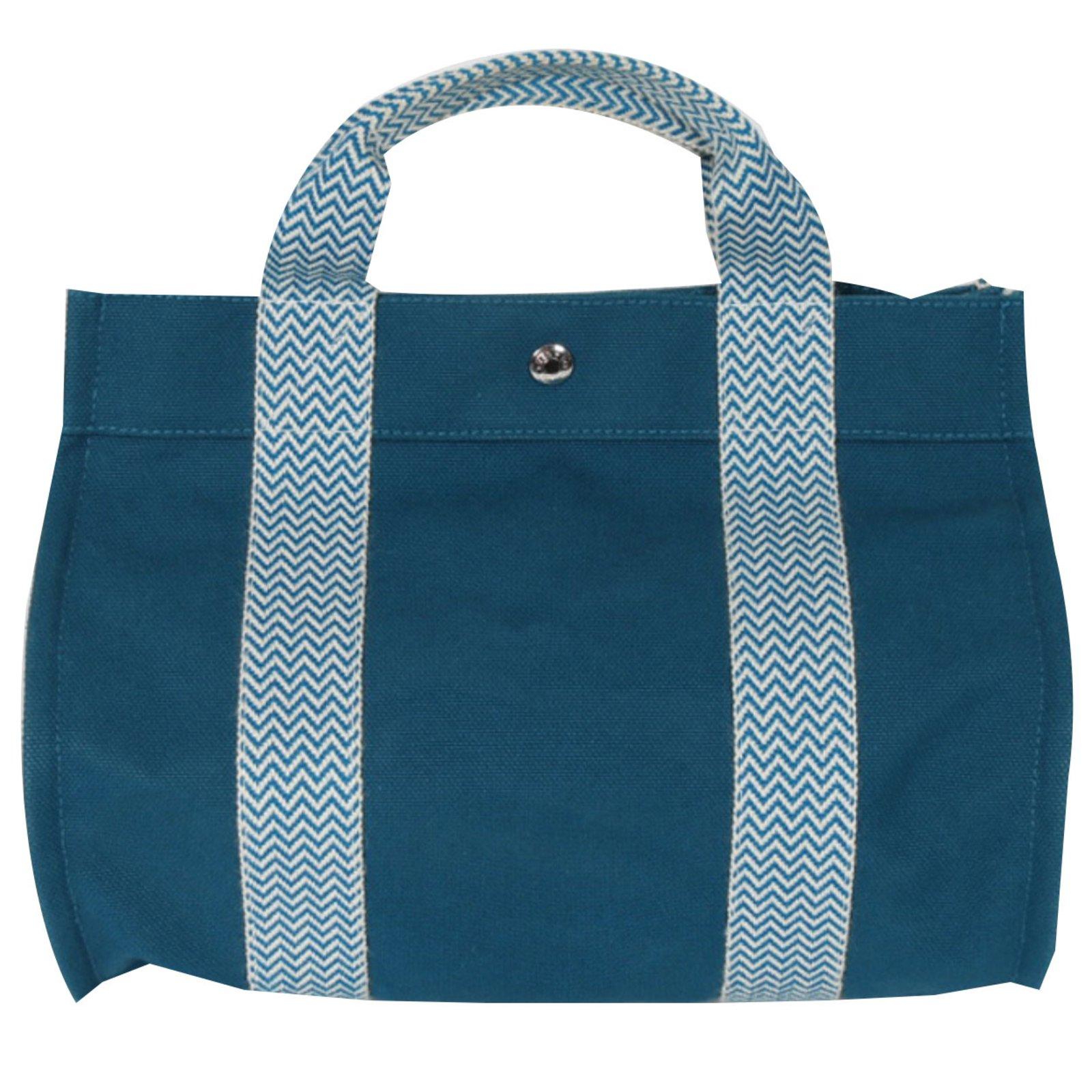 Hermès Hermes Cannes Pm Totebag Totes Cotton Blue Ref 39620