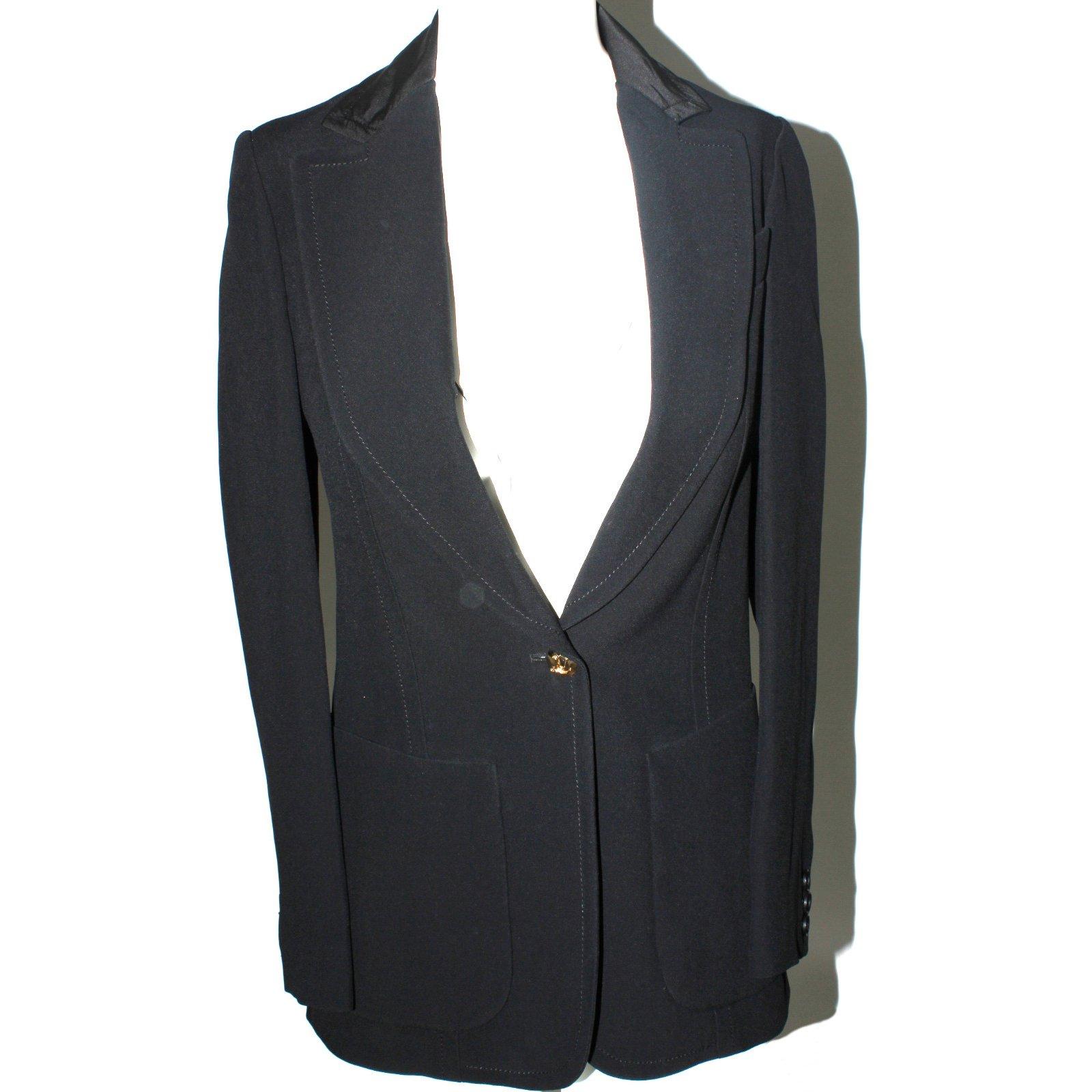 vestes louis vuitton veste uniforme viscose acetate noir joli closet. Black Bedroom Furniture Sets. Home Design Ideas