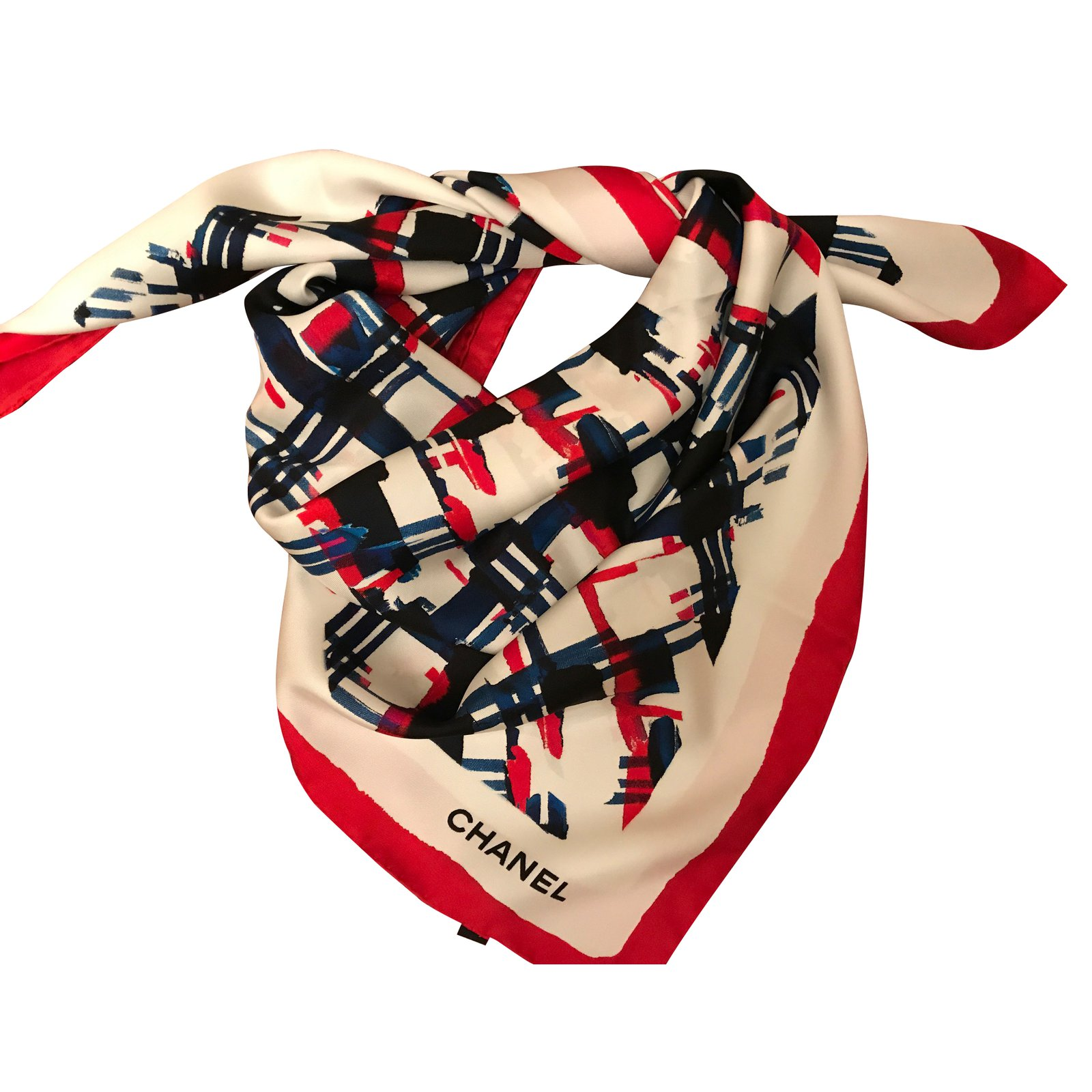 Foulards Chanel foulard Chanel Soie Multicolore ref.39800 - Joli Closet c4d5f5693f4