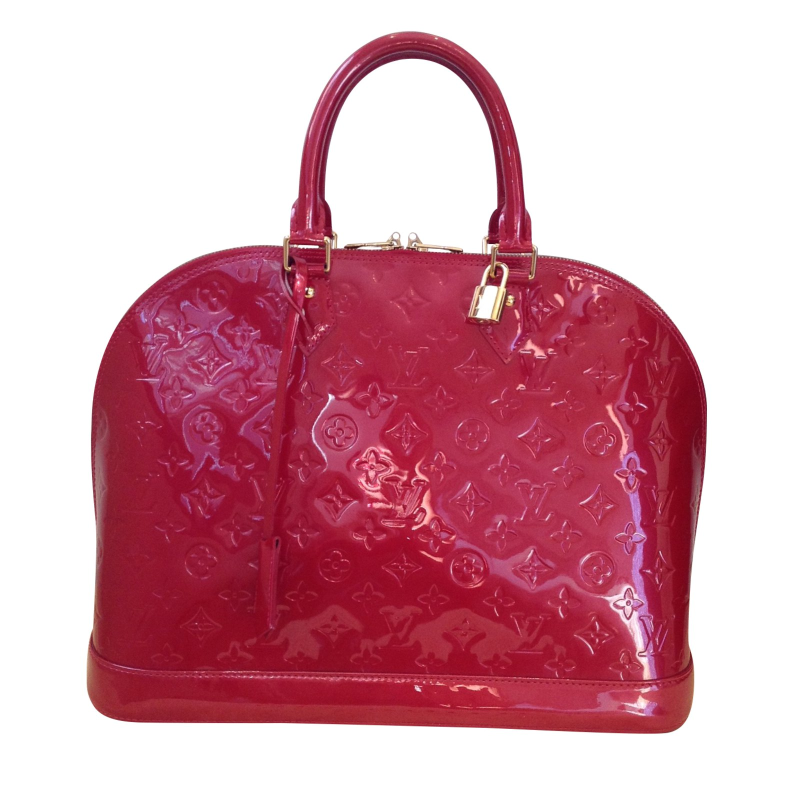Louis Vuitton Alma Handbags Patent Leather Red Ref 39877