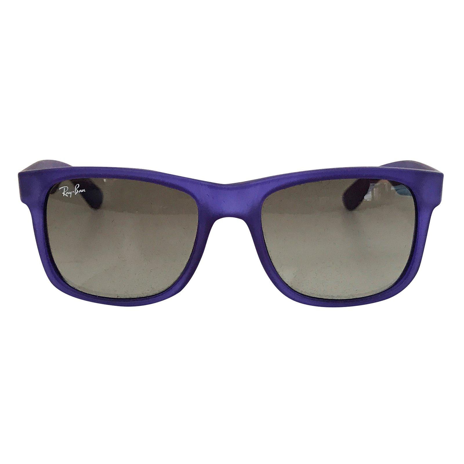 lunettes ray ban justin plastique bleu joli closet. Black Bedroom Furniture Sets. Home Design Ideas